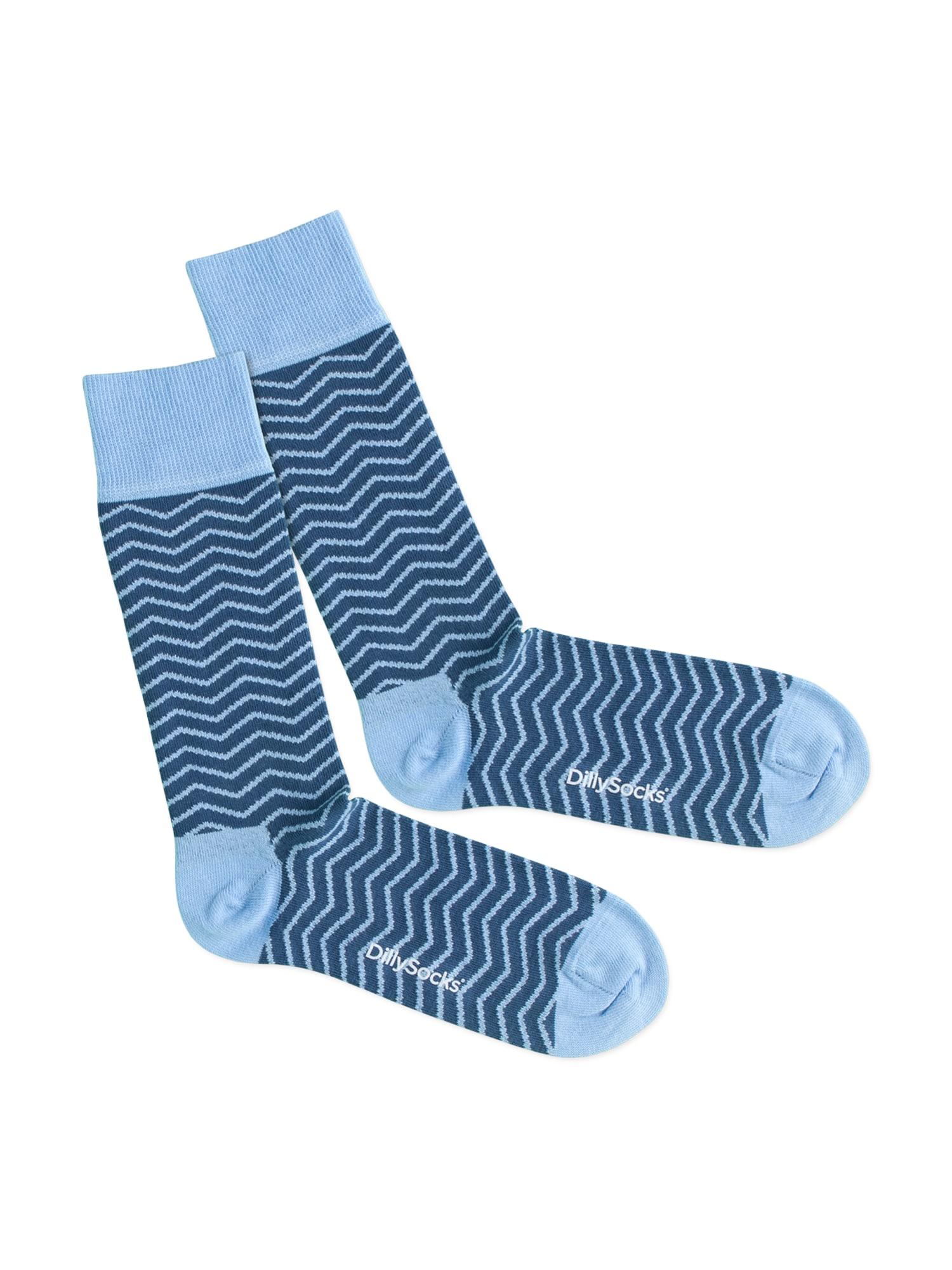 DillySocks Kojinės 'Square Wave' mėlyna / šviesiai mėlyna