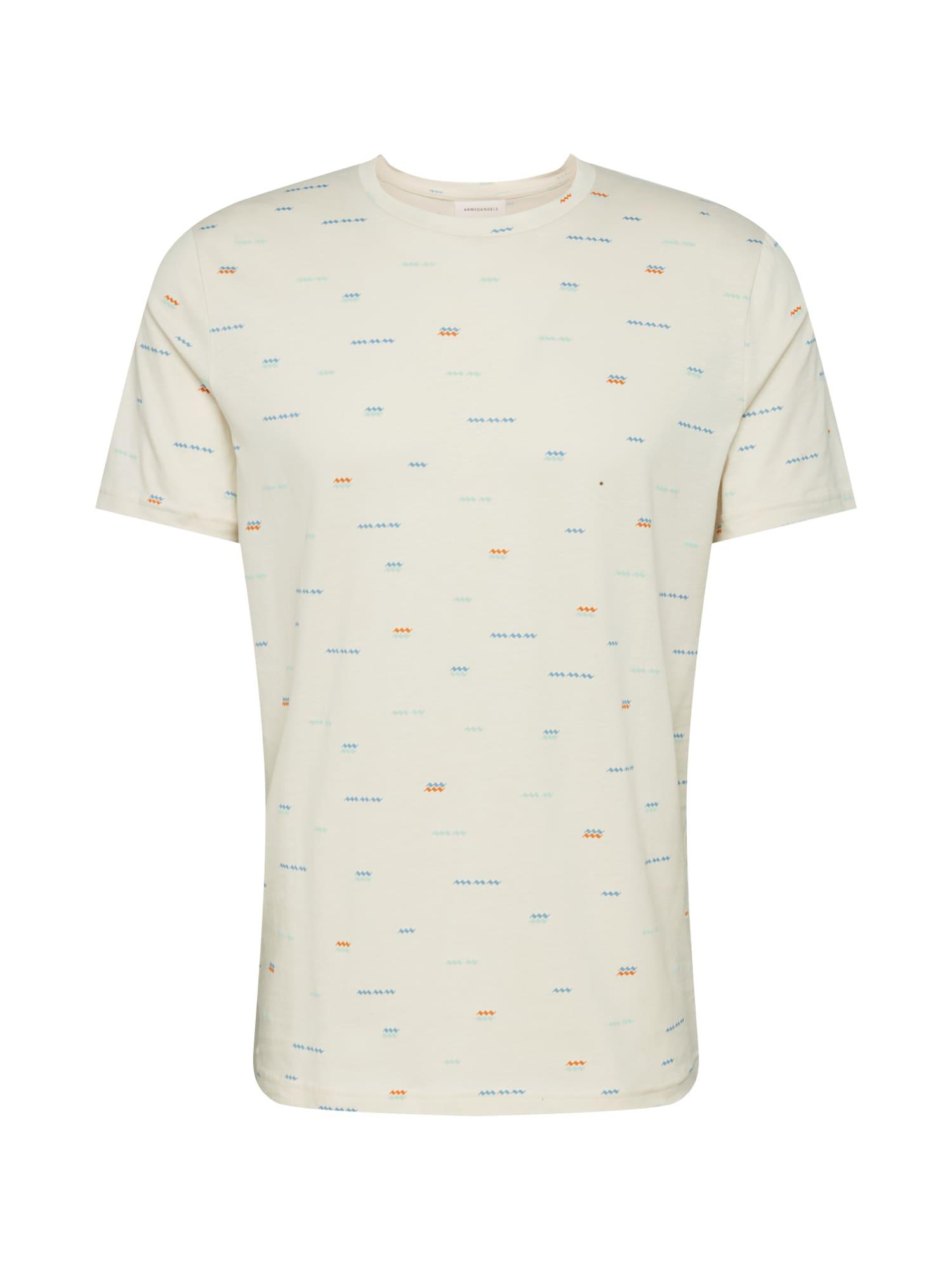 ARMEDANGELS Marškinėliai 'JAAMES WAVES' mišrios spalvos / balta