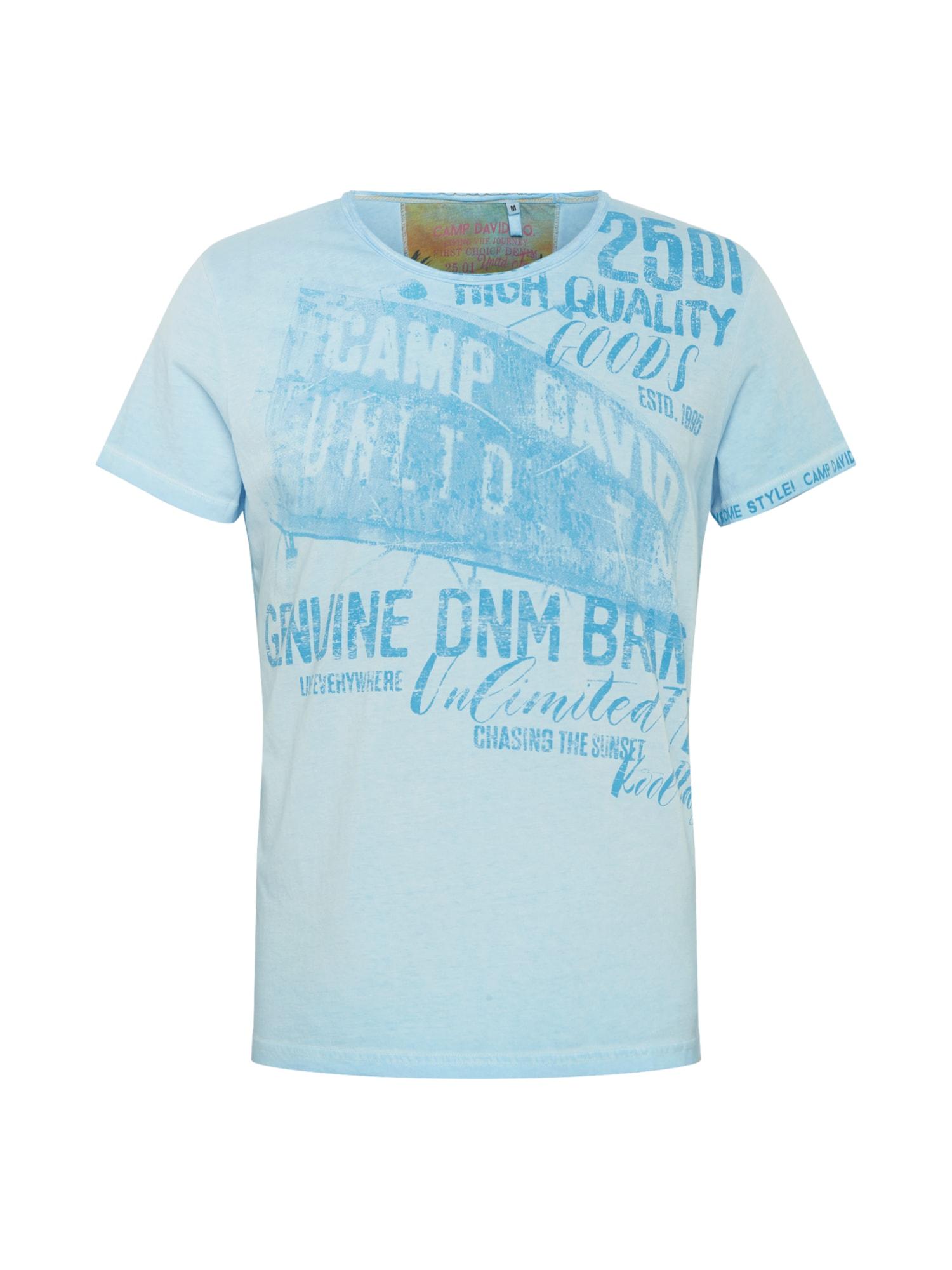 CAMP DAVID Tričko  modré / svetlomodrá