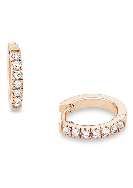 Ohrringe für Frauen - S.Oliver RED LABEL Paar Creolen mit Zirkonia, »SO1313 1« gold  - Onlineshop ABOUT YOU