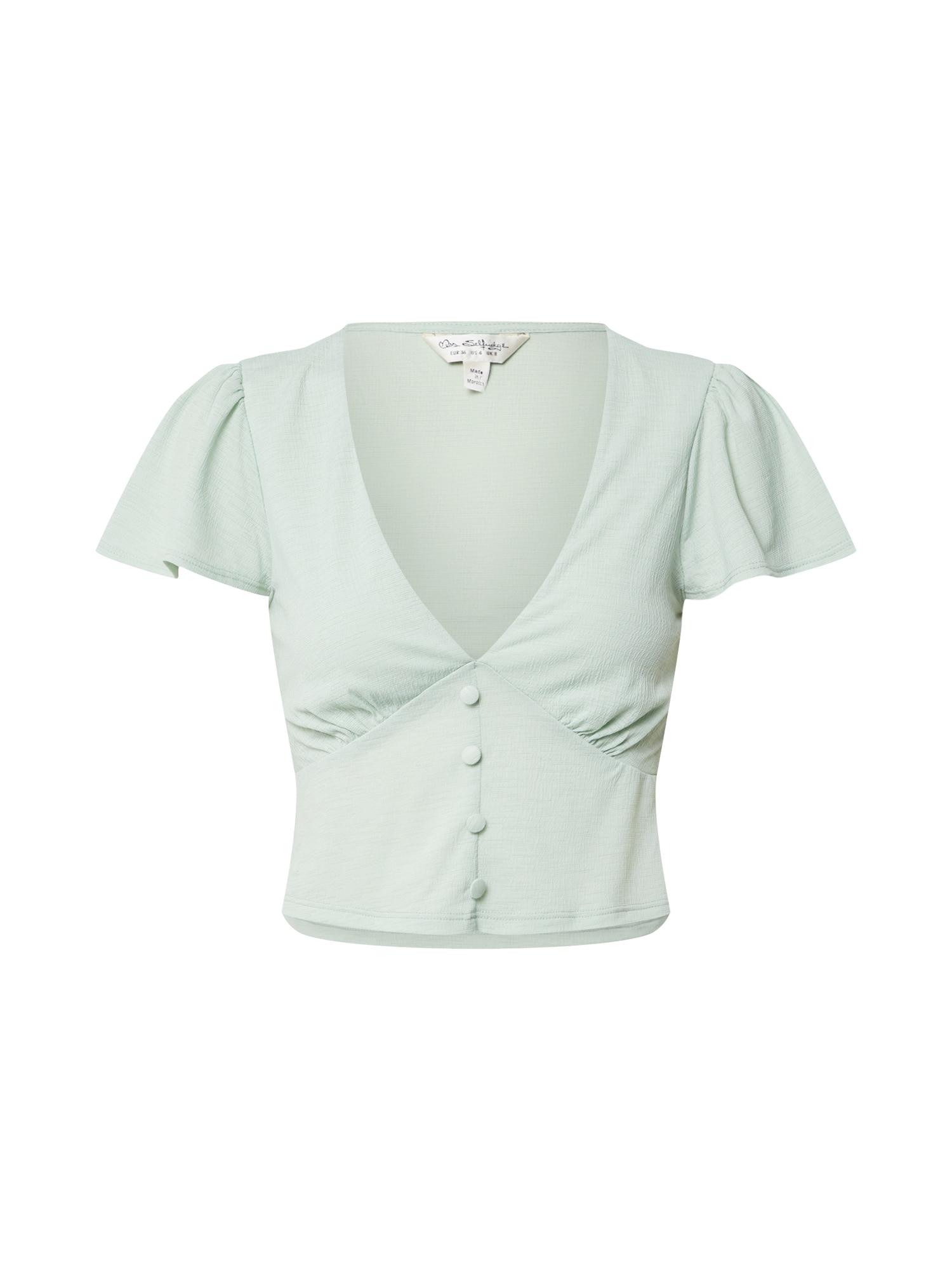 Miss Selfridge Marškinėliai mėtų spalva