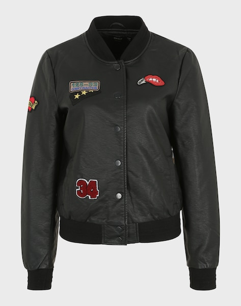 ONLY 'onlSANDY BADGE' Lederjacke