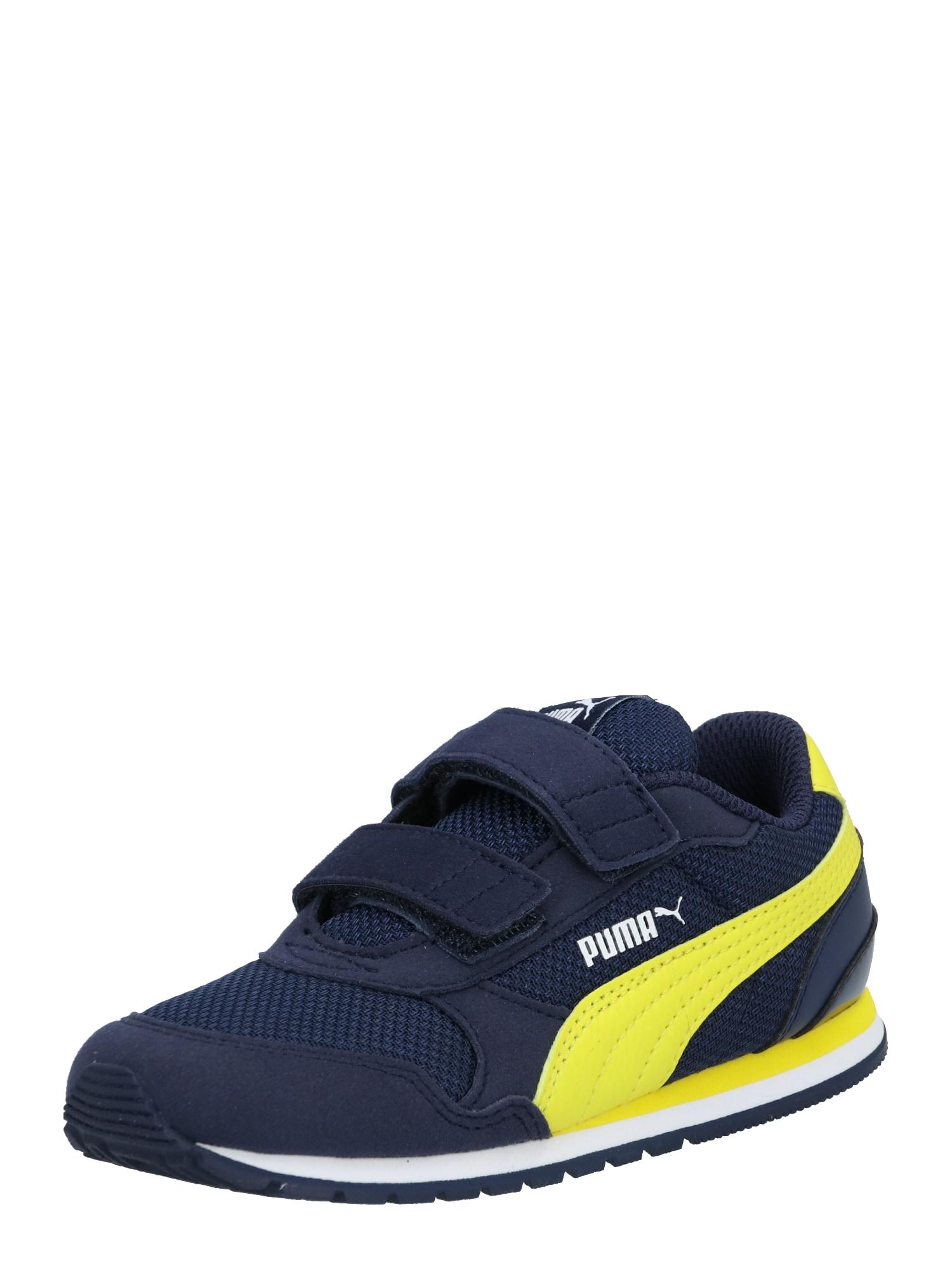 PUMA Tenisky 'Runner'  žlté / námornícka modrá