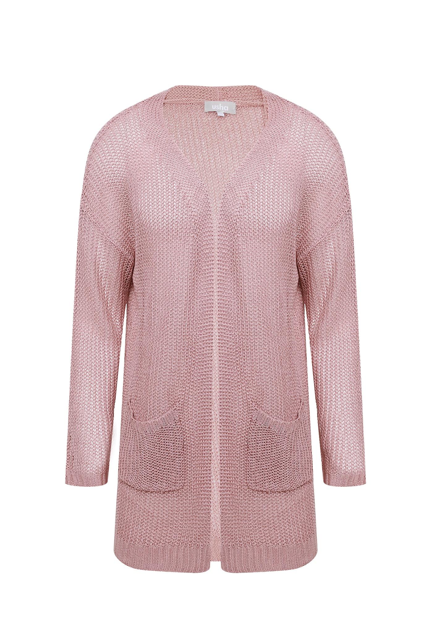 Usha Kardiganas sidabrinė / ryškiai rožinė spalva