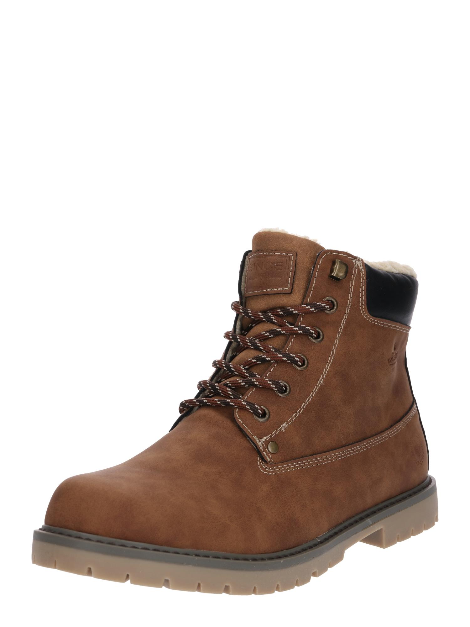 RIEKER Auliniai batai su raišteliais ruda / juoda