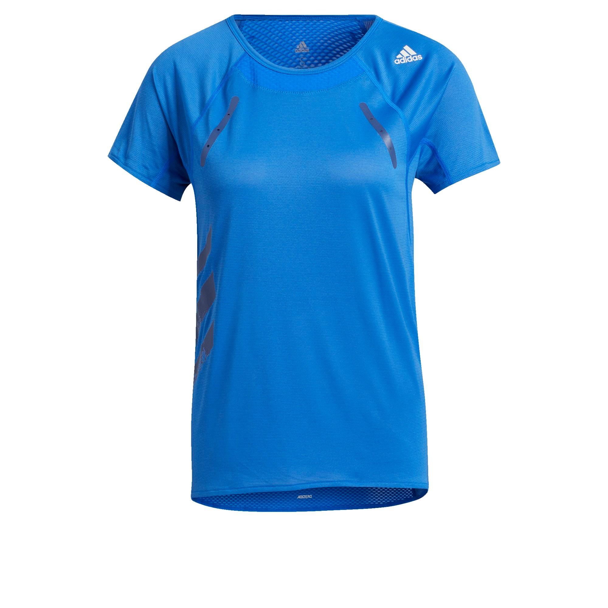 ADIDAS PERFORMANCE Funkční tričko  bílá / modrá / šedá