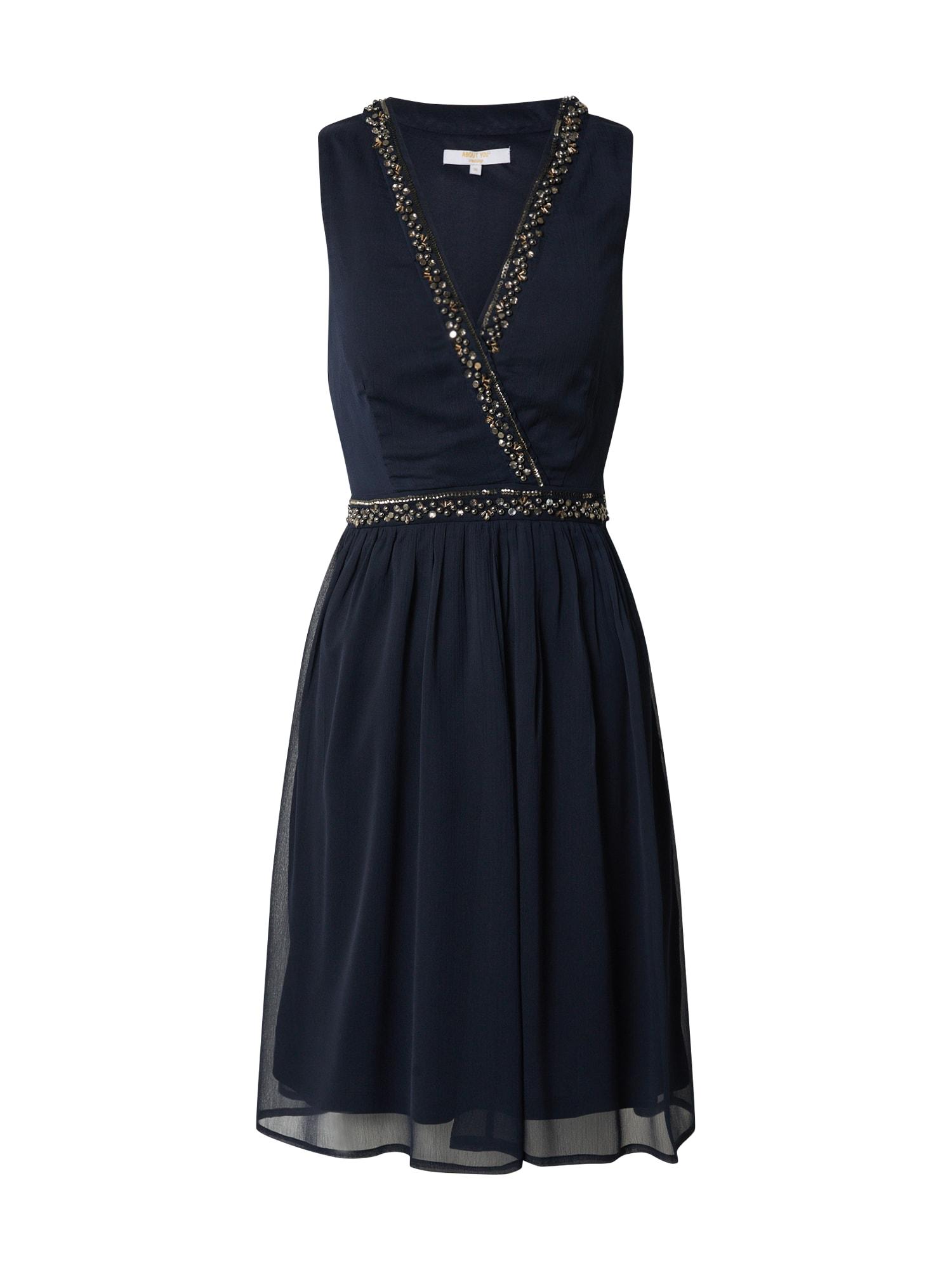 ABOUT YOU Kokteilinė suknelė 'Mirell' tamsiai mėlyna