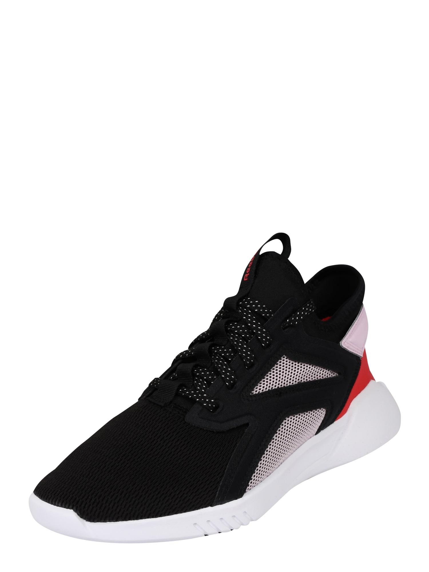 REEBOK Sportiniai batai juoda / balta / raudona