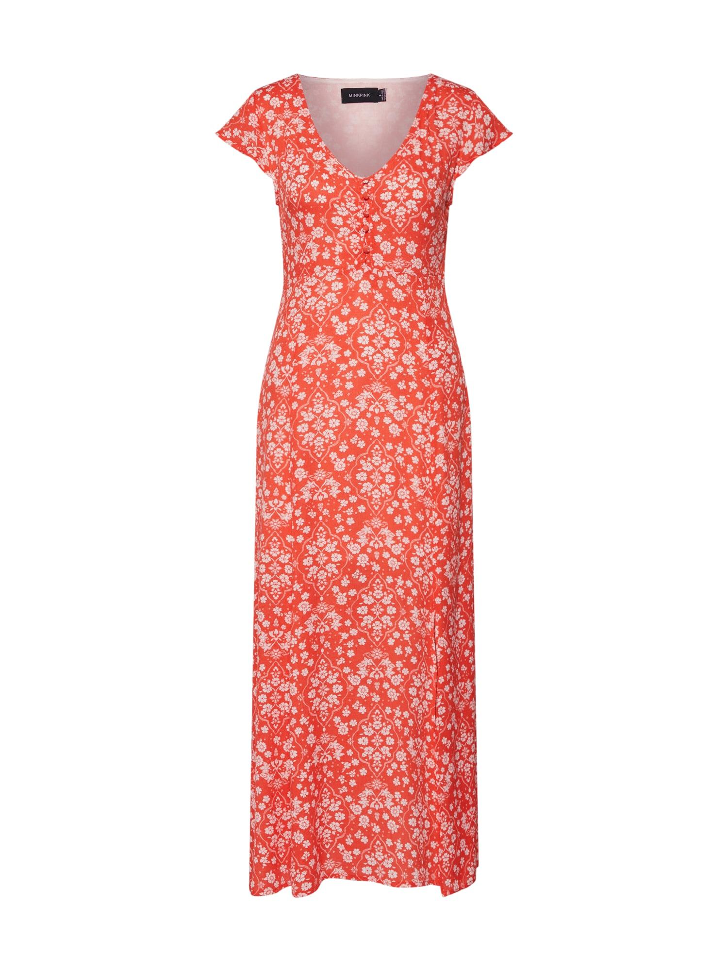 Letní šaty DELILAH červená bílá MINKPINK