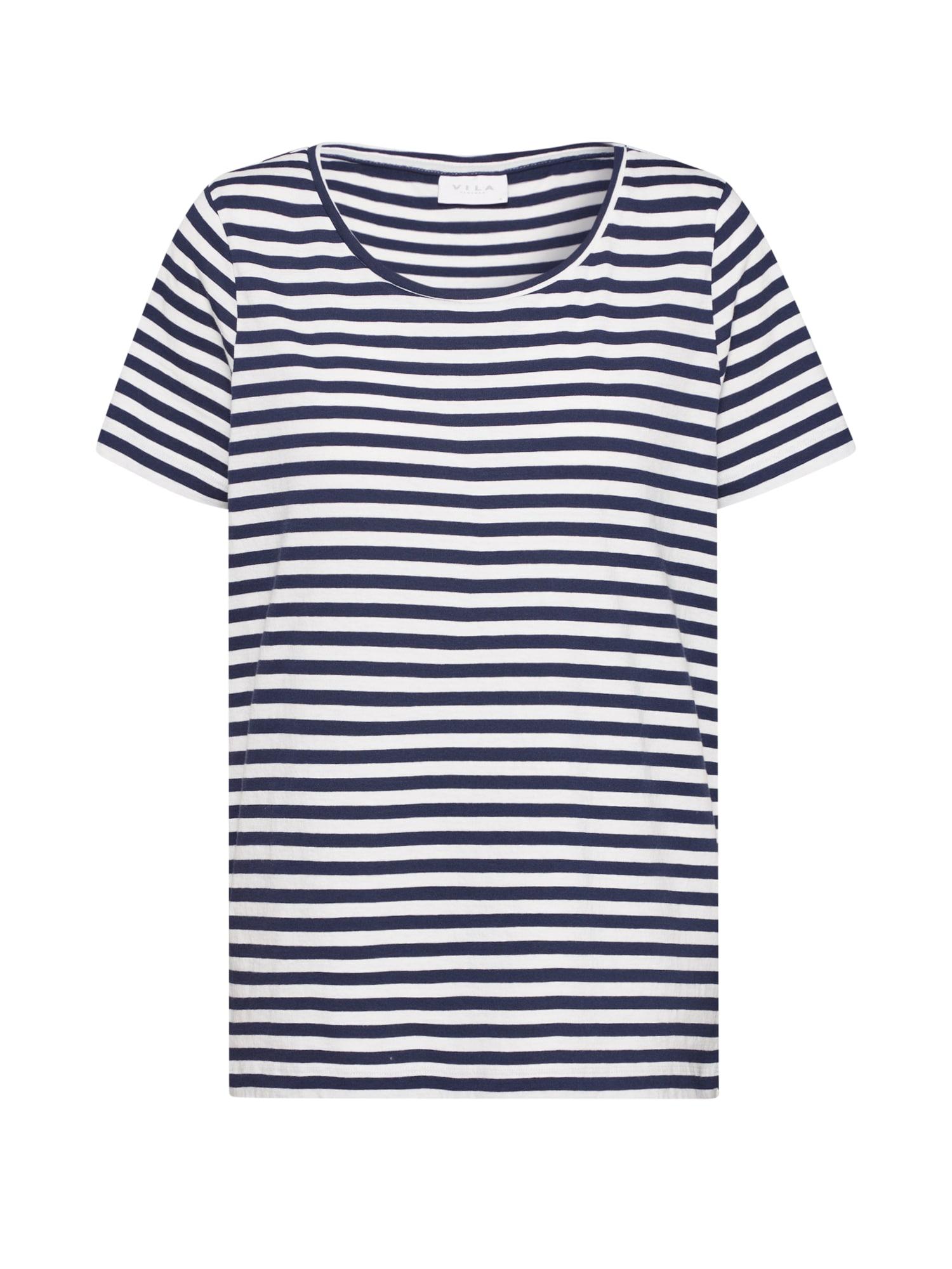 VILA Tričko 'SUS'  námornícka modrá / biela