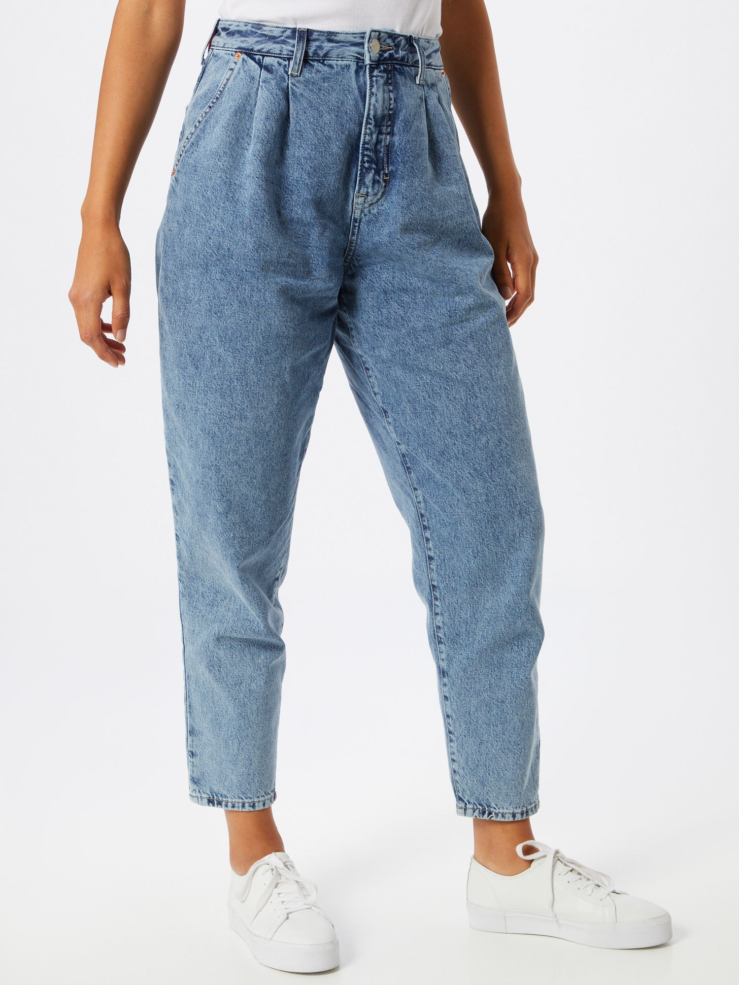 Tommy Jeans Pressveckade jeans  ljusblå