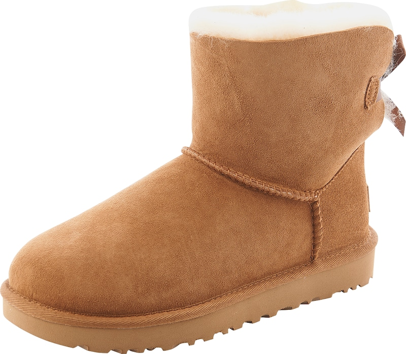 ugg boots mit fell f tterung 39 mini bailey bow ii 39 in braun about you. Black Bedroom Furniture Sets. Home Design Ideas