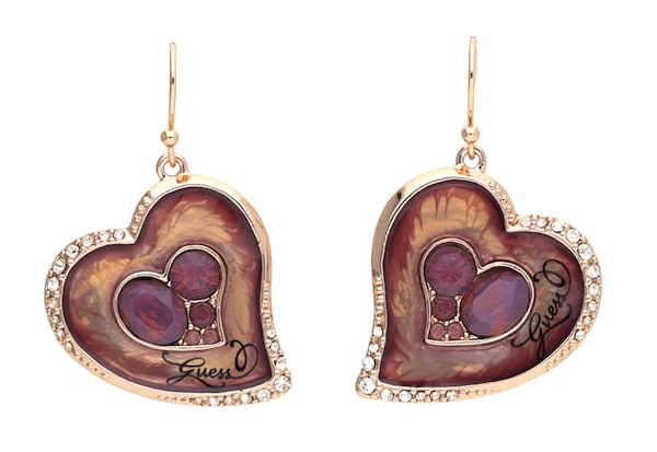 Ohrringe für Frauen - GUESS Ohrhänger 'UBE31215' bronze gold dunkellila  - Onlineshop ABOUT YOU