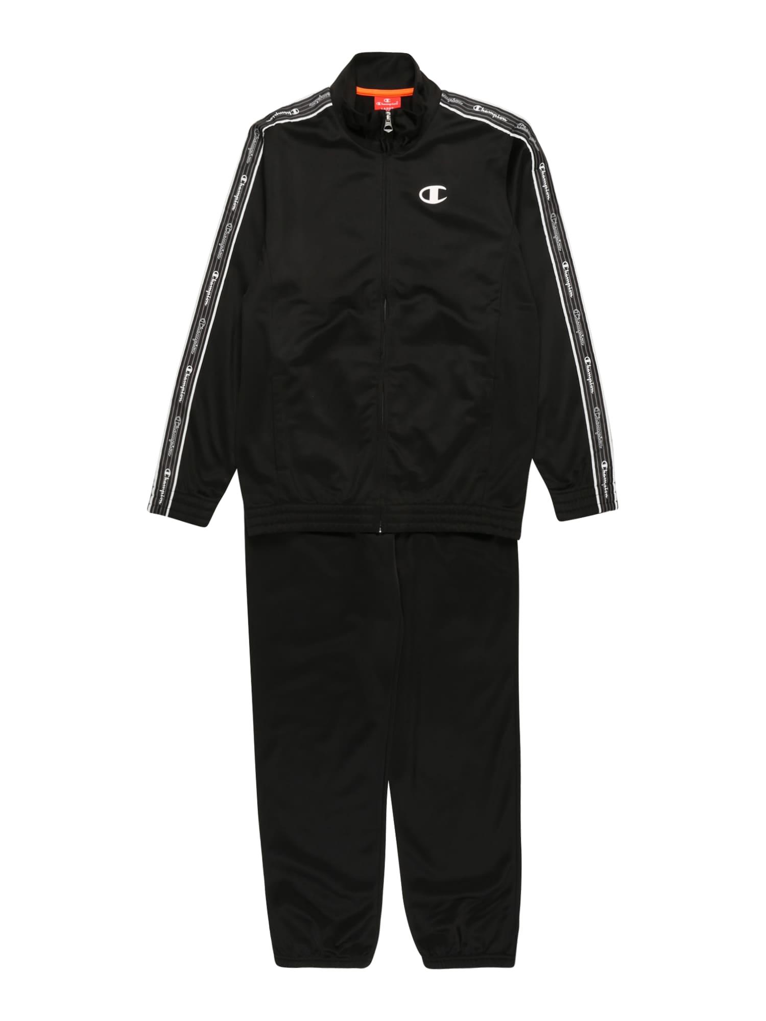 Champion Authentic Athletic Apparel Treniruočių kostiumas juoda
