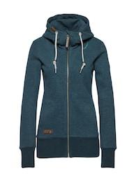 Ragwear Damen Sweatshirt YODA SWEAT ZIP blau | 04251490129788