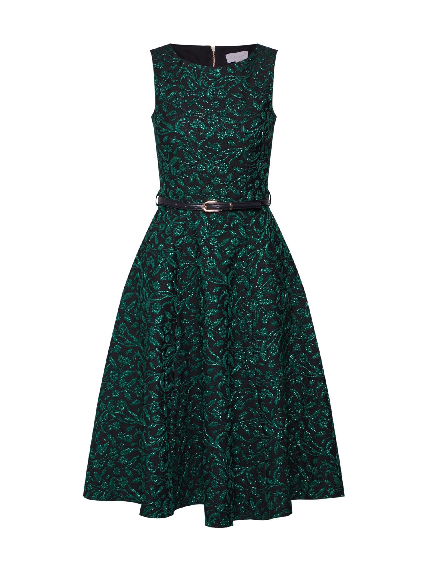 Šaty Closet Flared Sleeveless Midi Dress zelená Closet London