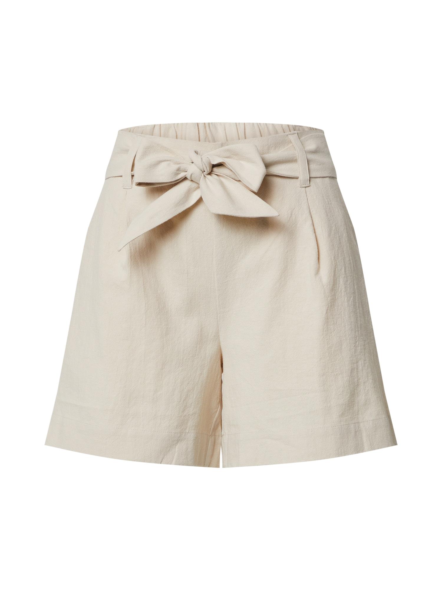 SELECTED FEMME Plisované nohavice 'SLFMALVINA MW SHORTS B'  pieskový