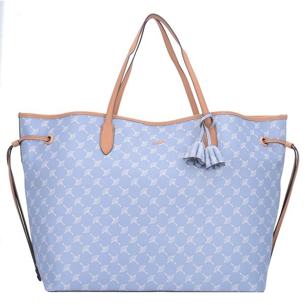 Shopper für Frauen - JOOP! Shopper 'Cortina Lara' rauchblau hellbraun weiß  - Onlineshop ABOUT YOU