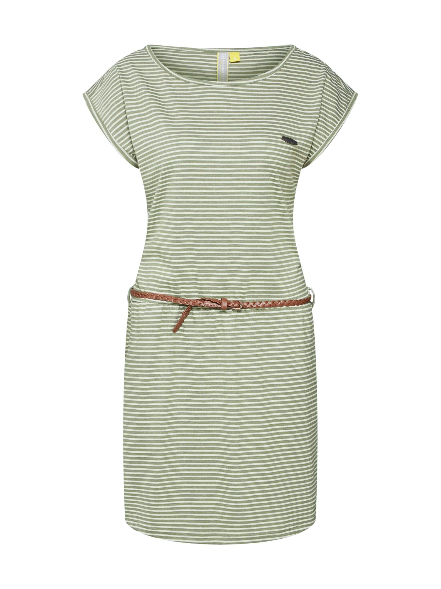 Letní šaty THEA khaki olivová Alife And Kickin