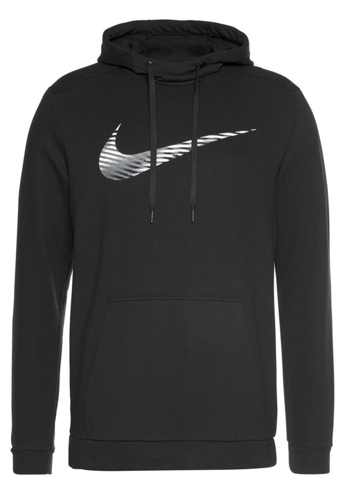 NIKE Sportinio tipo megztinis balta / juoda