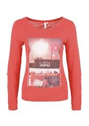 Q/S Designed By Damen Shirt mit Foto-Print rosa | 04056523486650