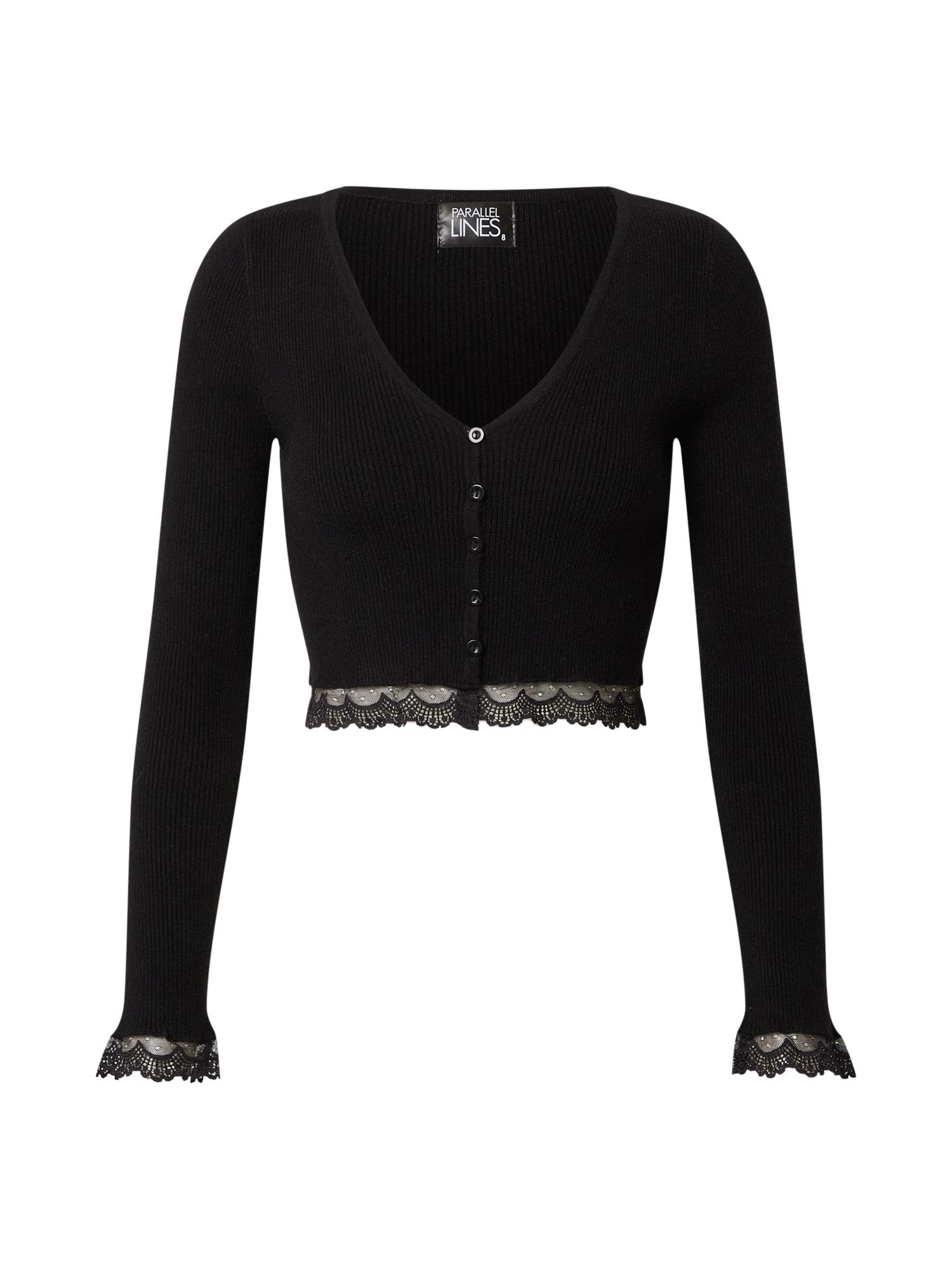 Parallel Lines Marškinėliai juoda