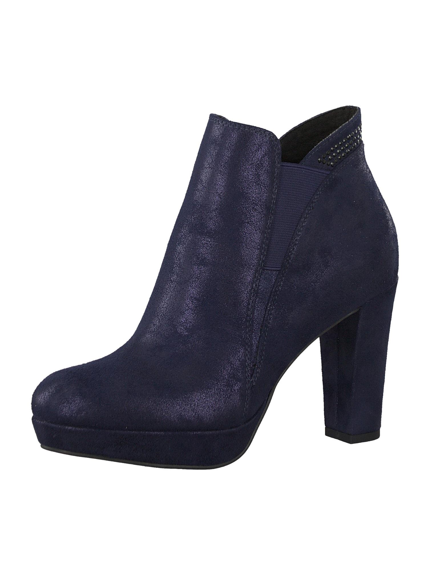 Kotníkové boty námořnická modř TAMARIS