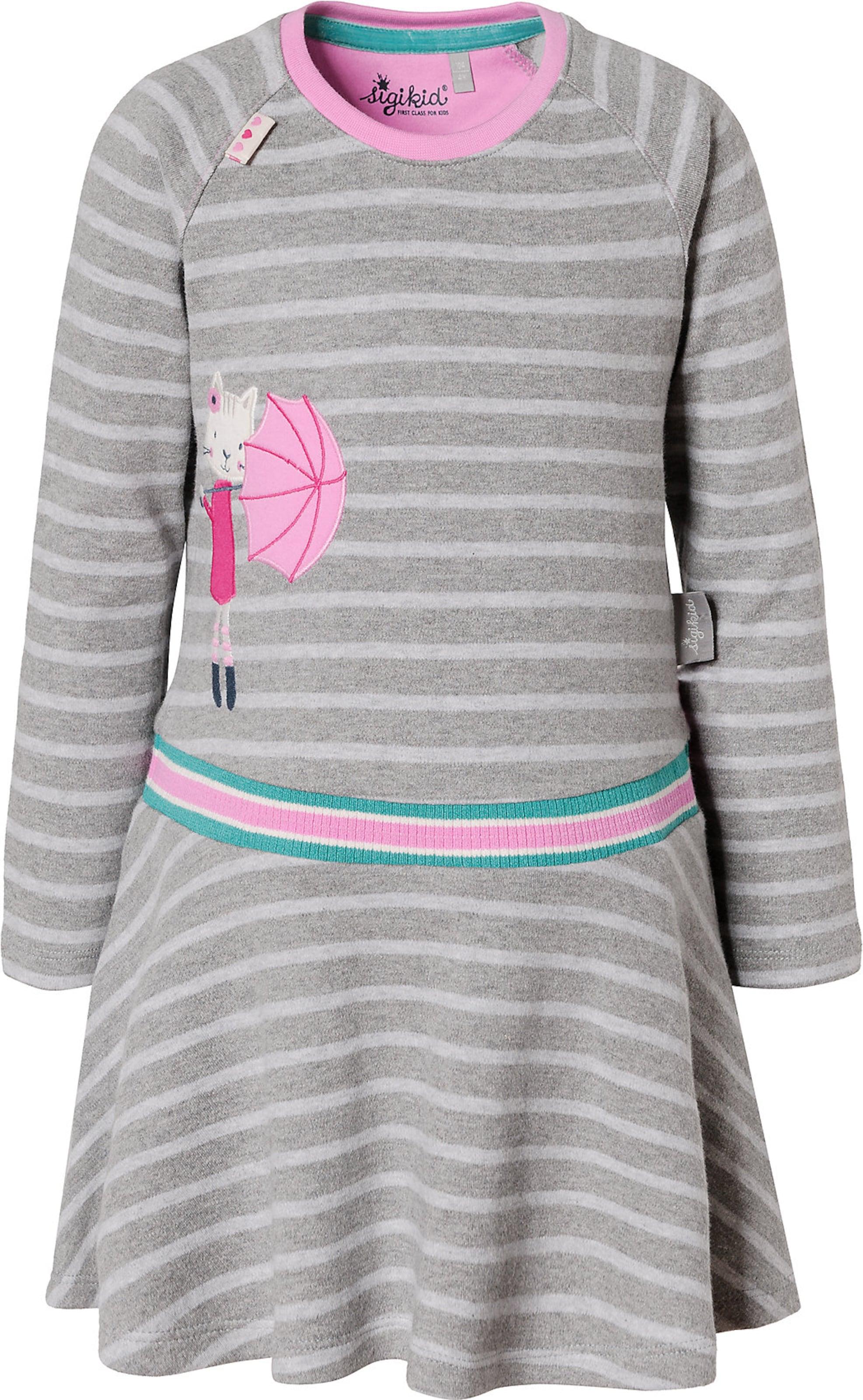 Kinder,  Mädchen,  Kinder SIGIKID Kleid grau,  pink, schwarz   04045646166488