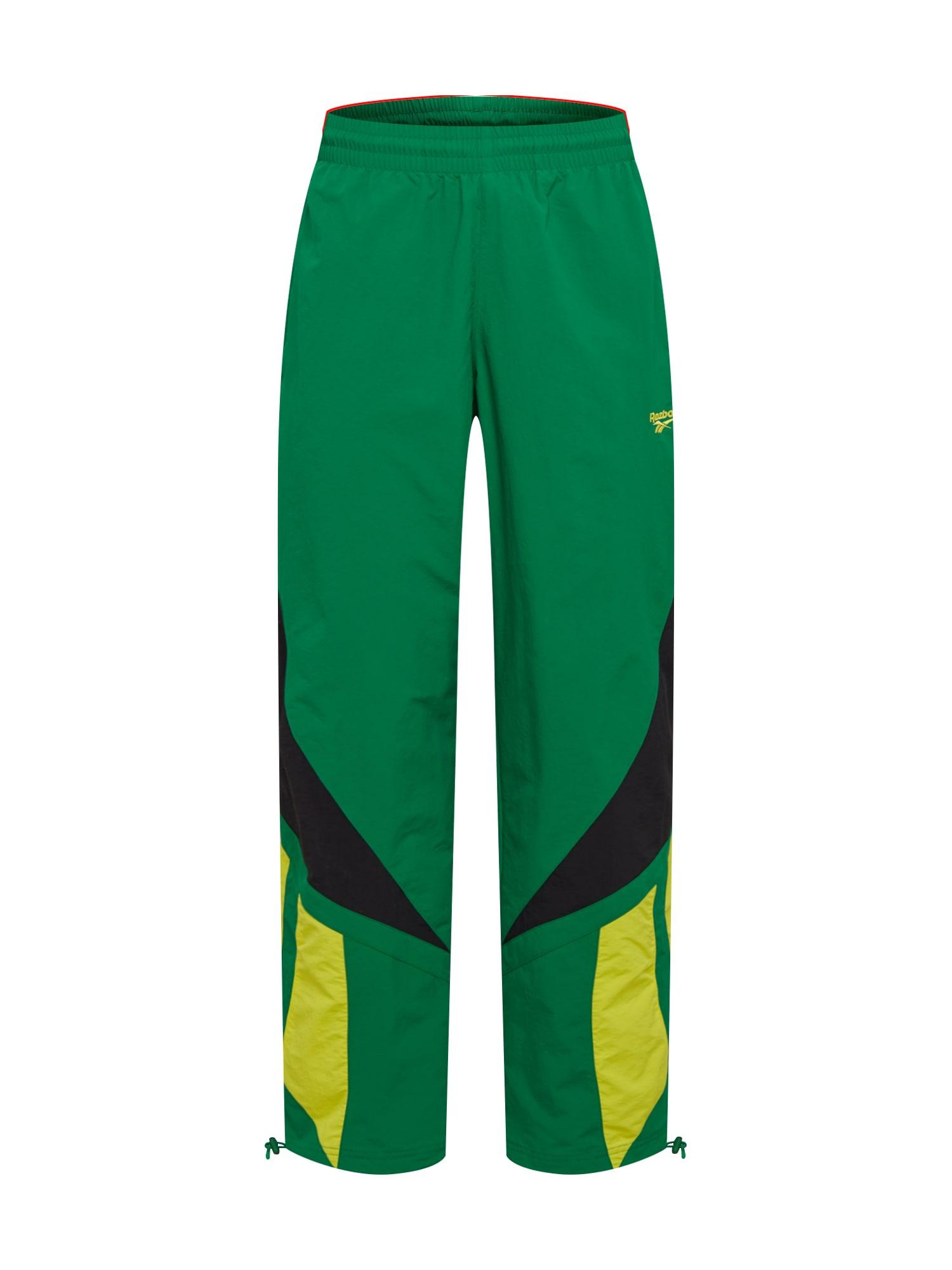 Reebok Classic Kelnės purvo spalva / geltona / žalia