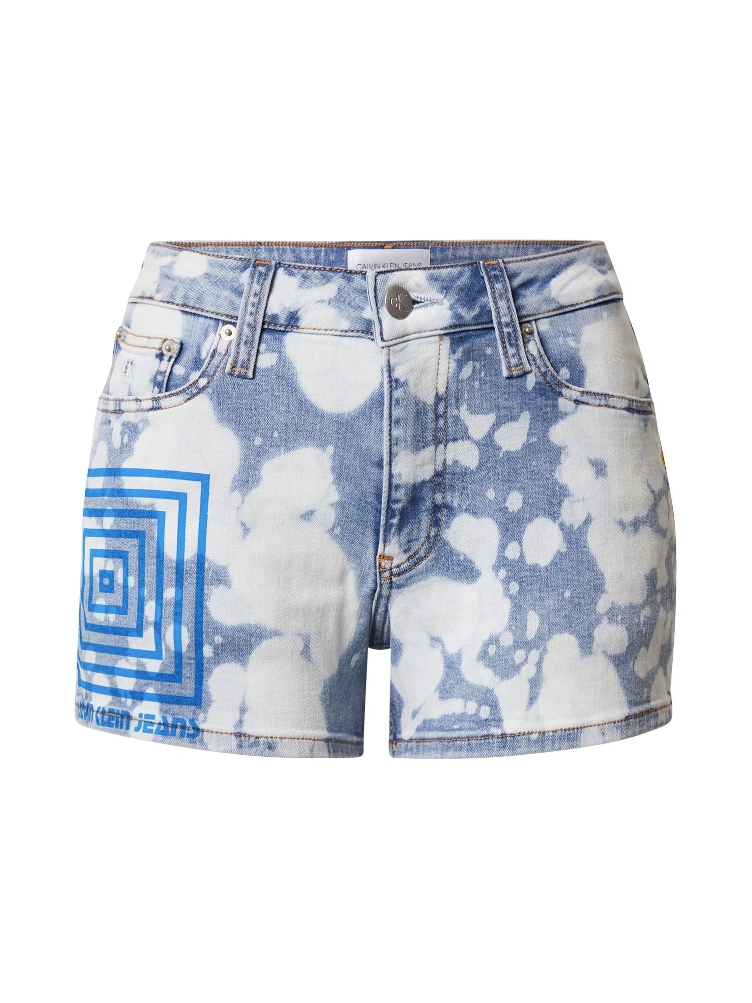 Calvin Klein Jeans Džinsai balta / mėlyna