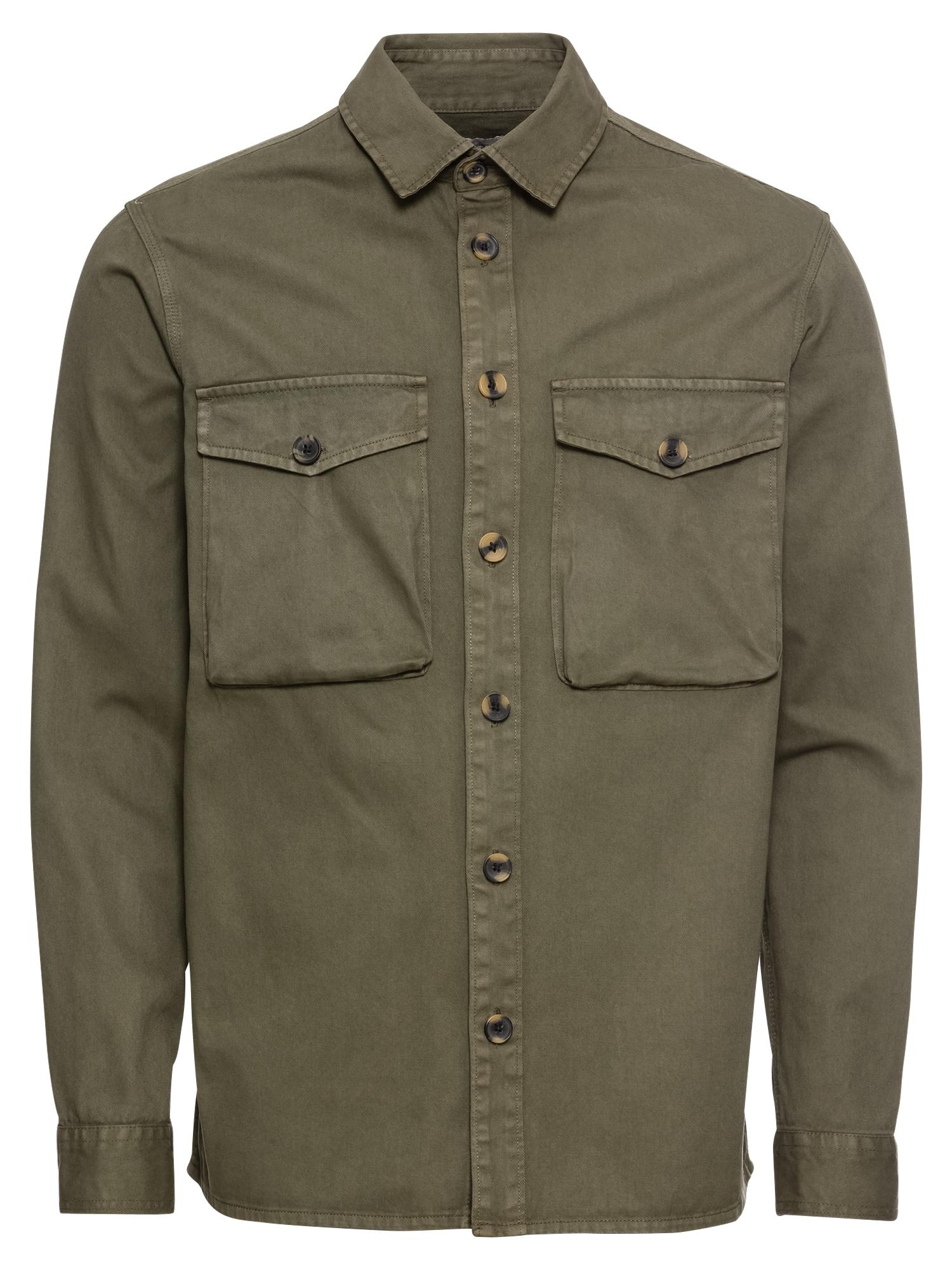 Košile Anton Twill LS olivová !Solid