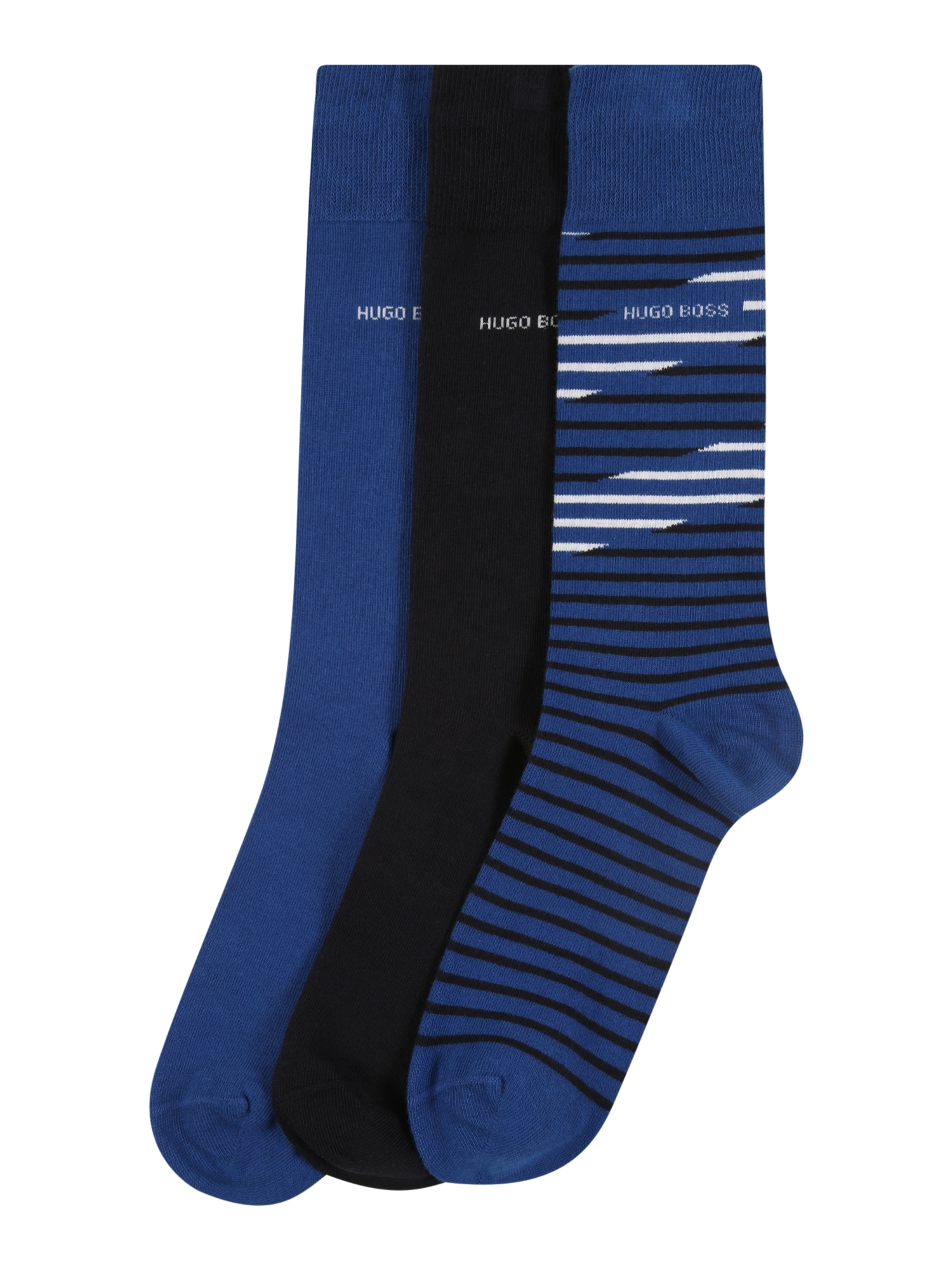 BOSS Kojinės 'RS Gift Set CC' balta / mėlyna / tamsiai mėlyna jūros spalva