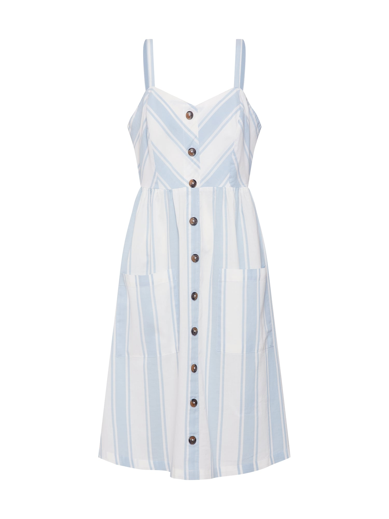 Letní šaty modrá bílá ONLY