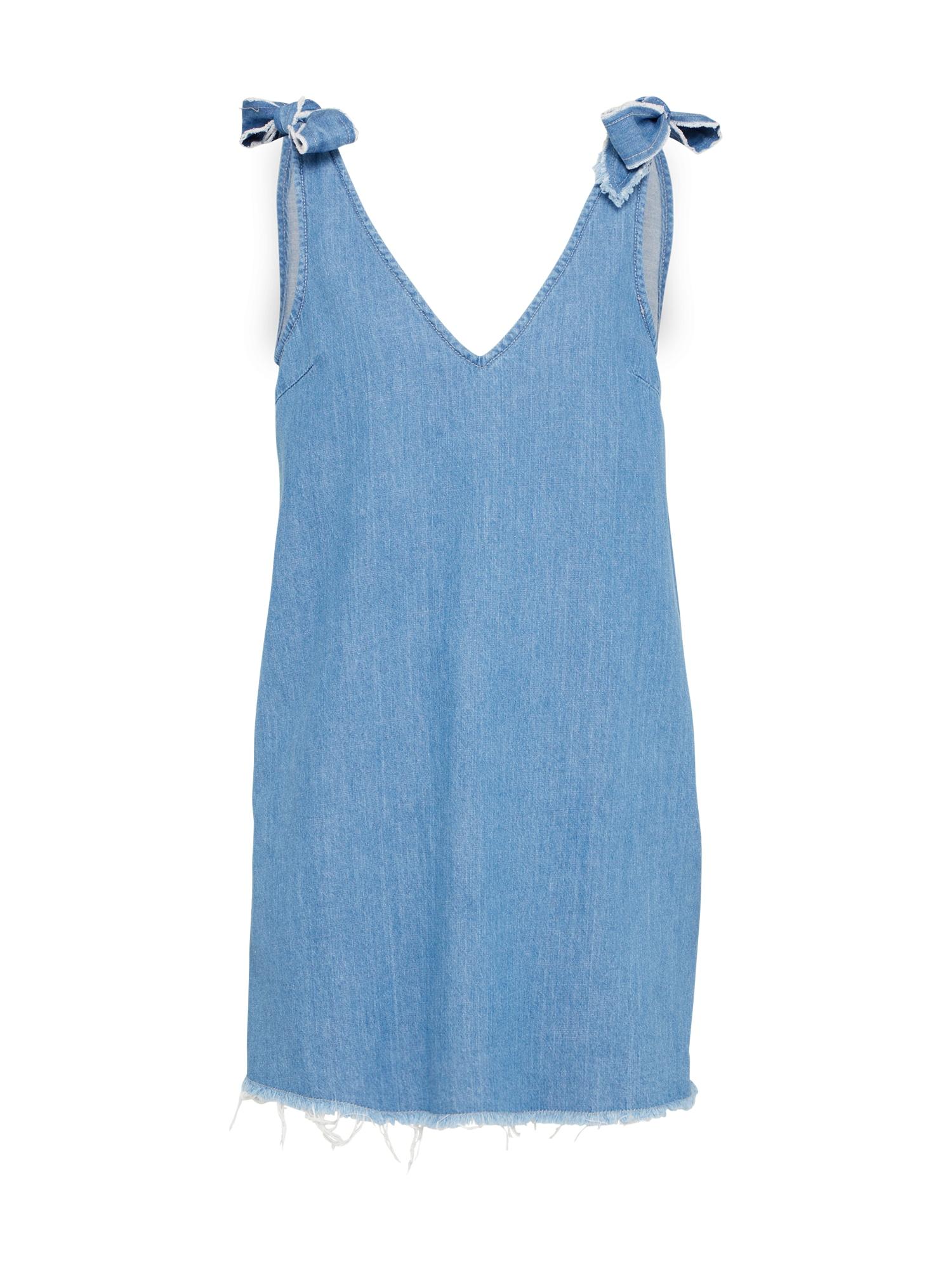 Letní šaty LEXI modrá džínovina MINKPINK