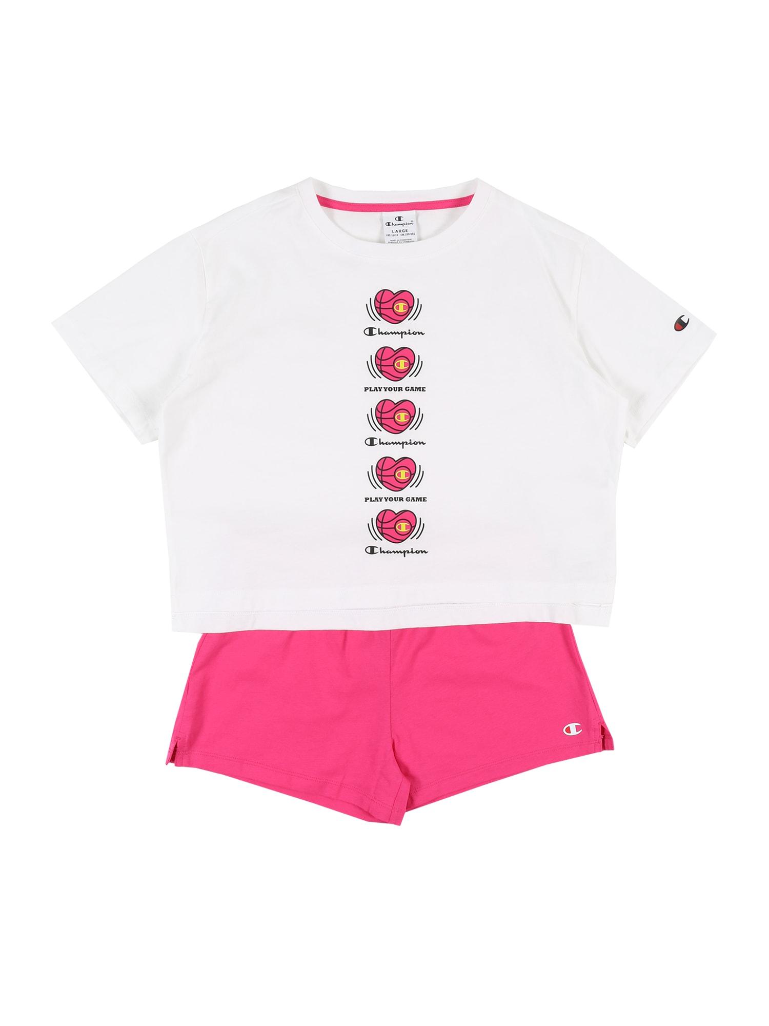 Champion Authentic Athletic Apparel Sportinis kostiumas balta / rožinė