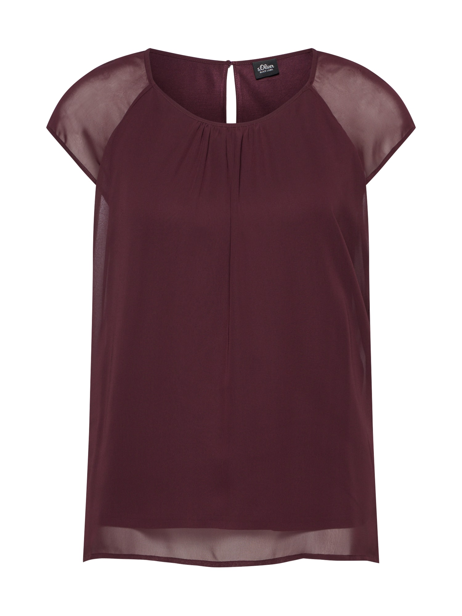 Tričko vínově červená S.Oliver BLACK LABEL