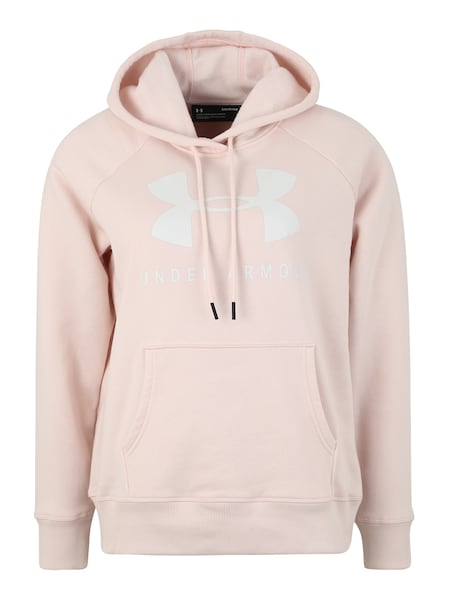 Sportmode - Sportsweatshirt 'RIVAL FLEECE SPORTSTYLE GRAPHIC HOODIE' › Under Armour › rosa weiß  - Onlineshop ABOUT YOU