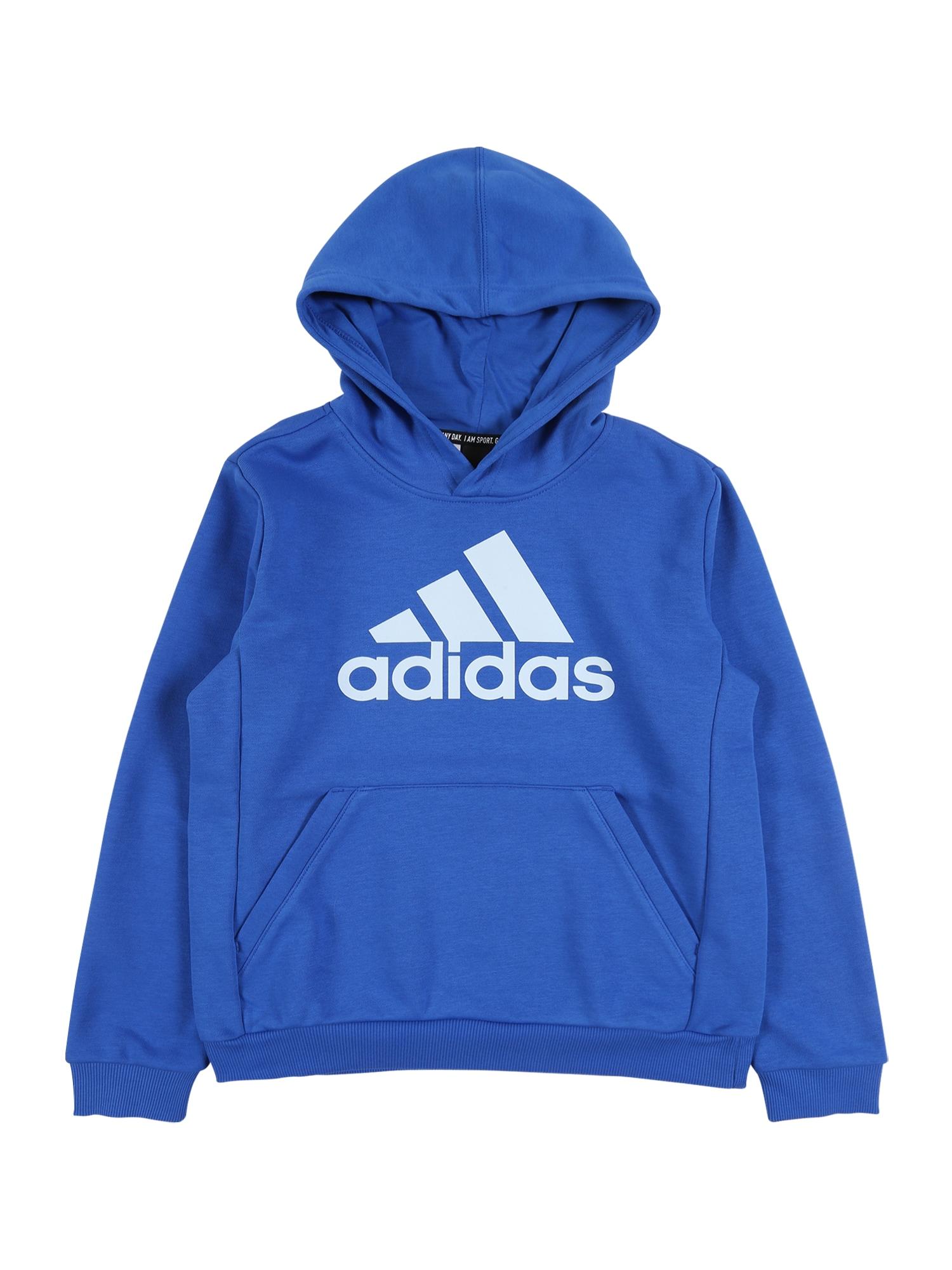 ADIDAS PERFORMANCE Sportinio tipo megztinis 'YB MH BOS PO' kobalto mėlyna / balta