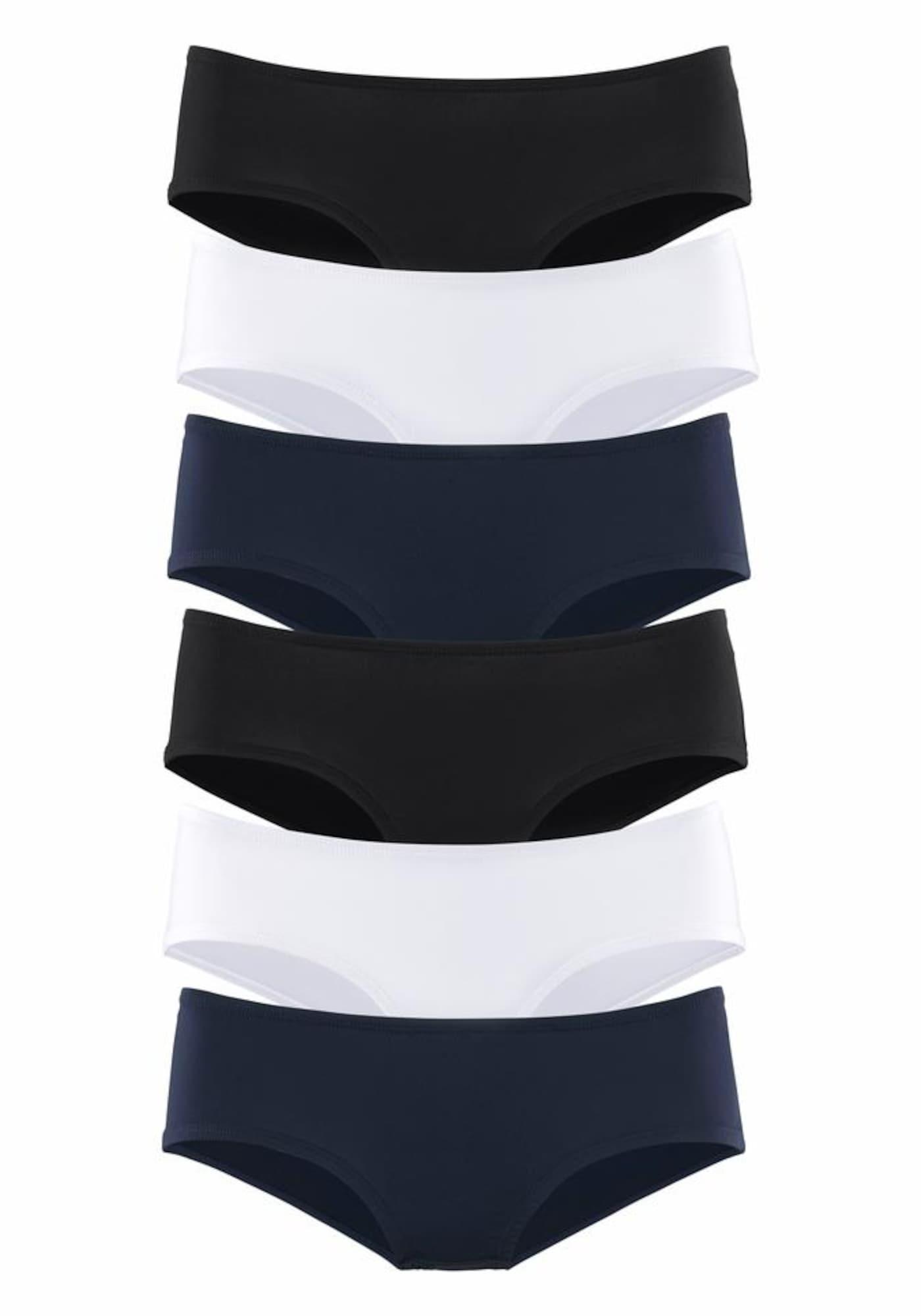 VIVANCE Kalhotky  námořnická modř / černá / bílá