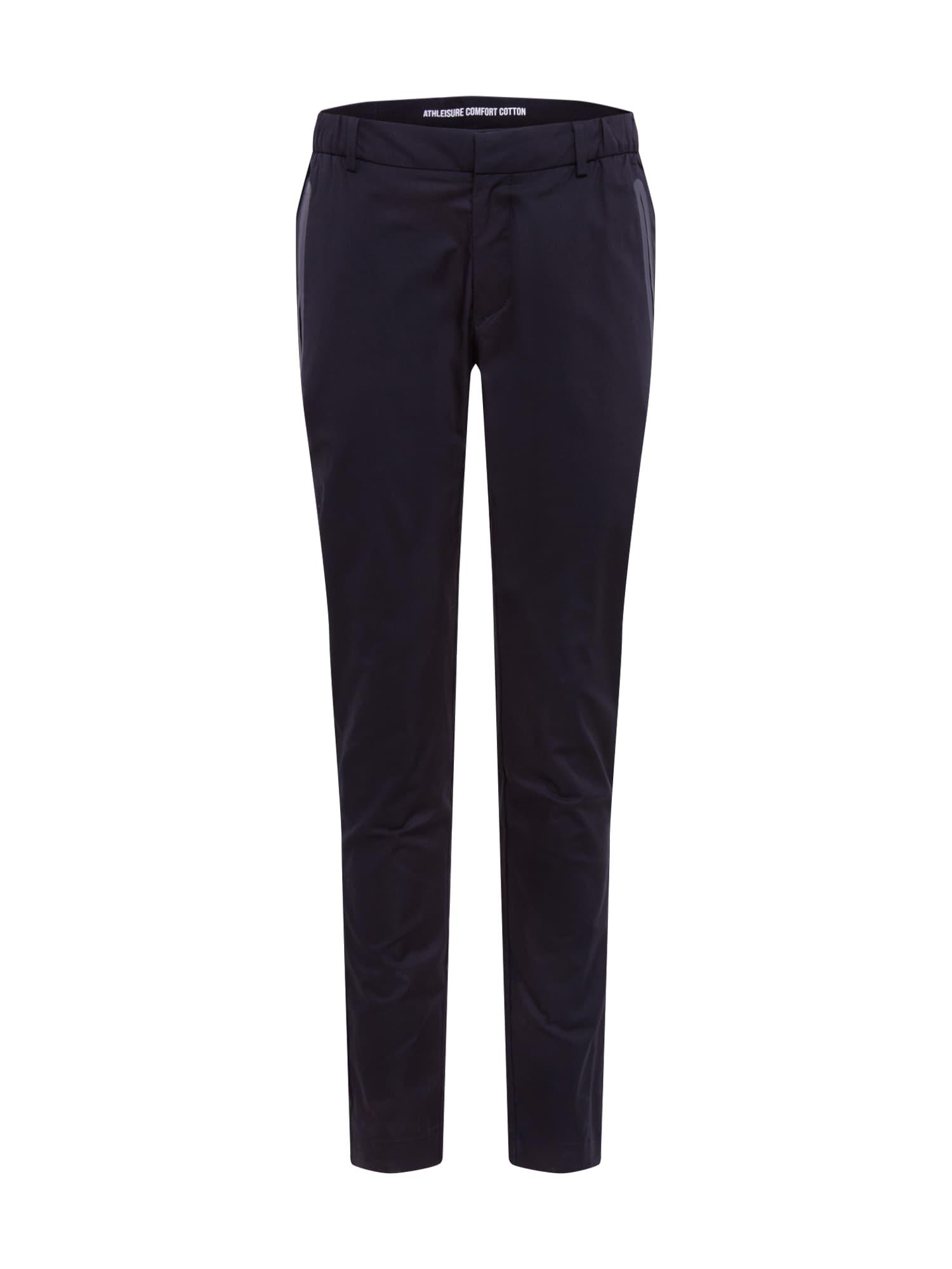 BOSS ATHLEISURE Chino stiliaus kelnės 'Rogan4' tamsiai mėlyna