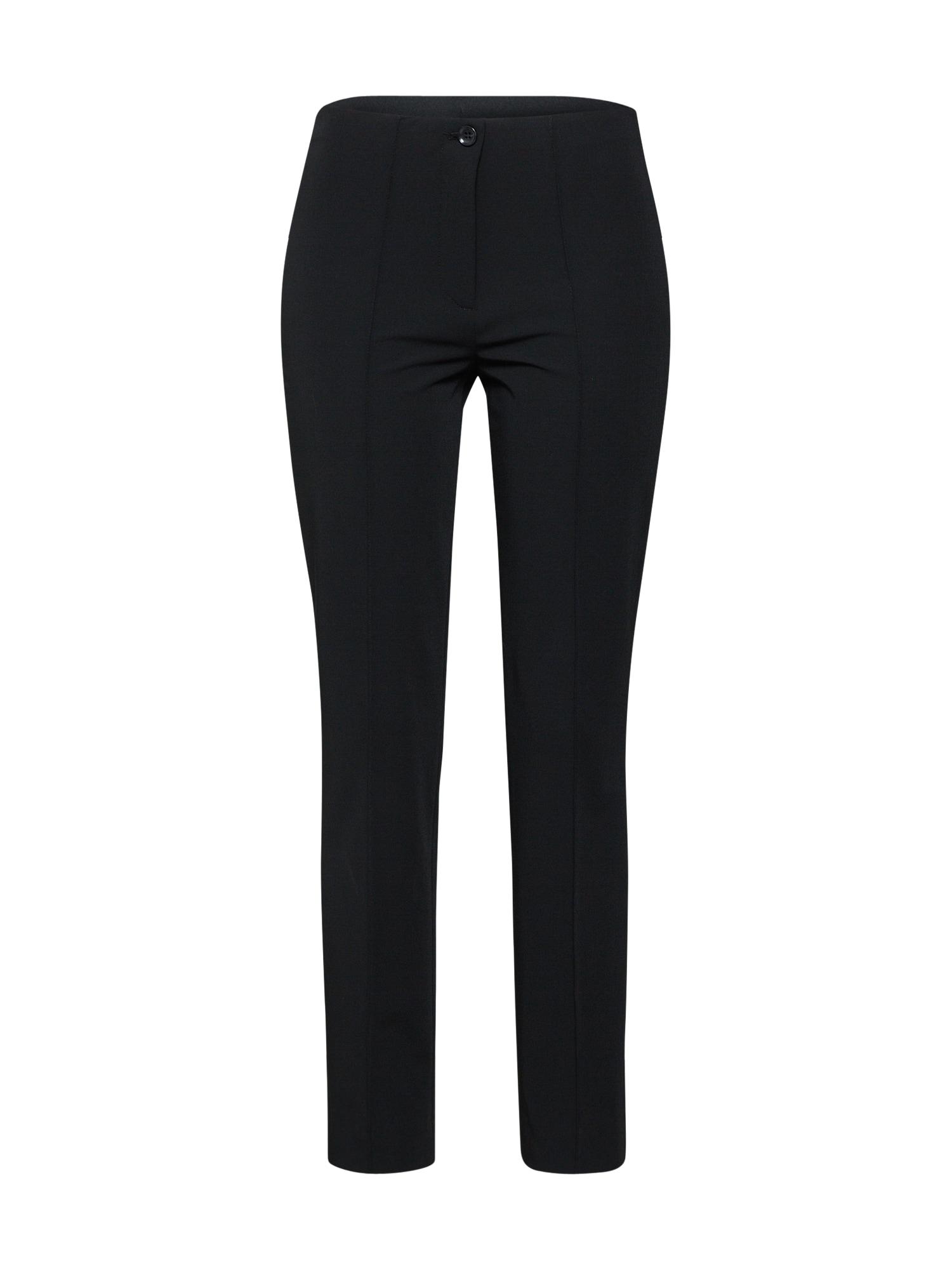 Kalhoty se sklady v pase CISIMPLE černá CINQUE