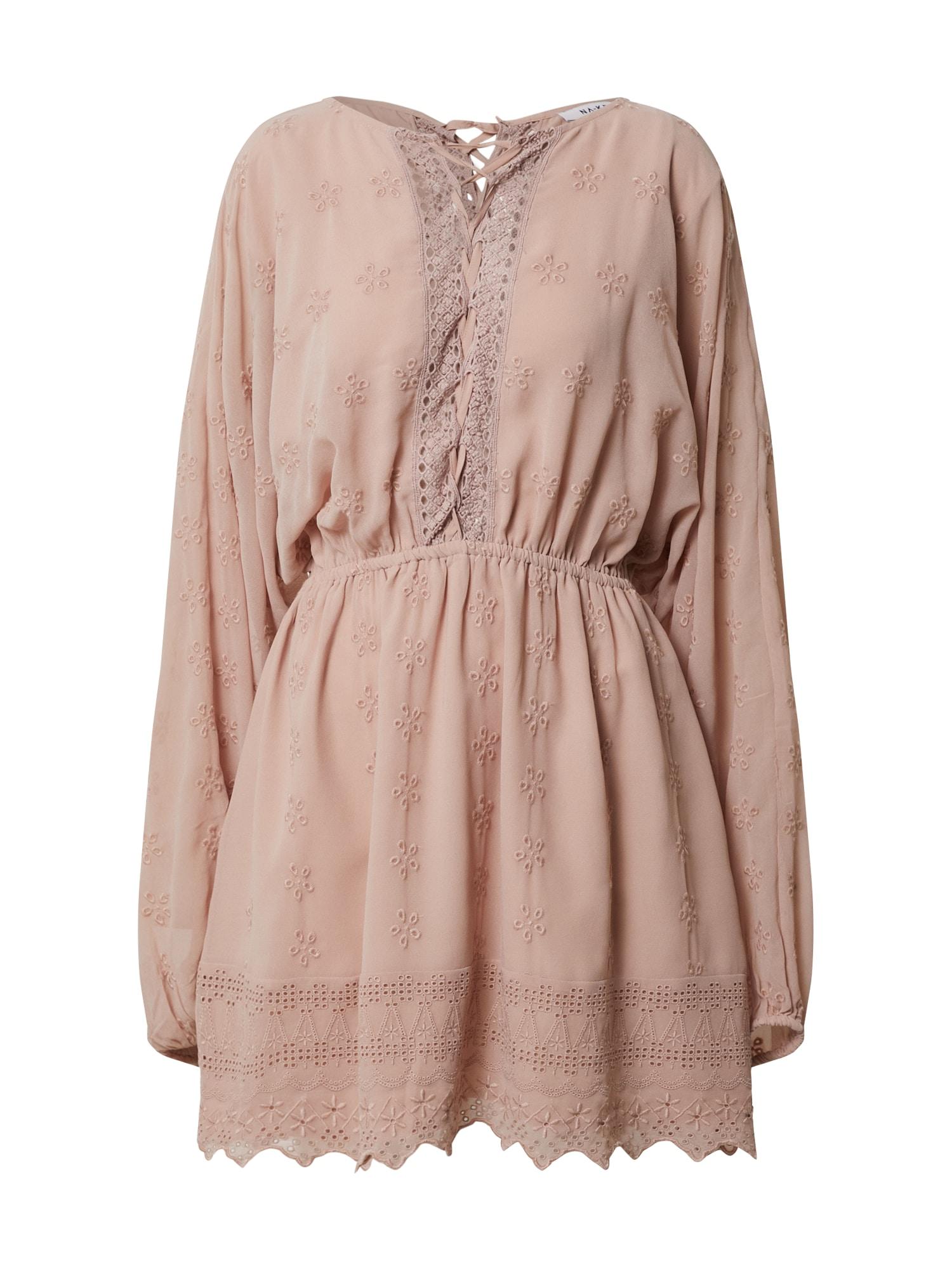 NA-KD Vasarinė suknelė ryškiai rožinė spalva
