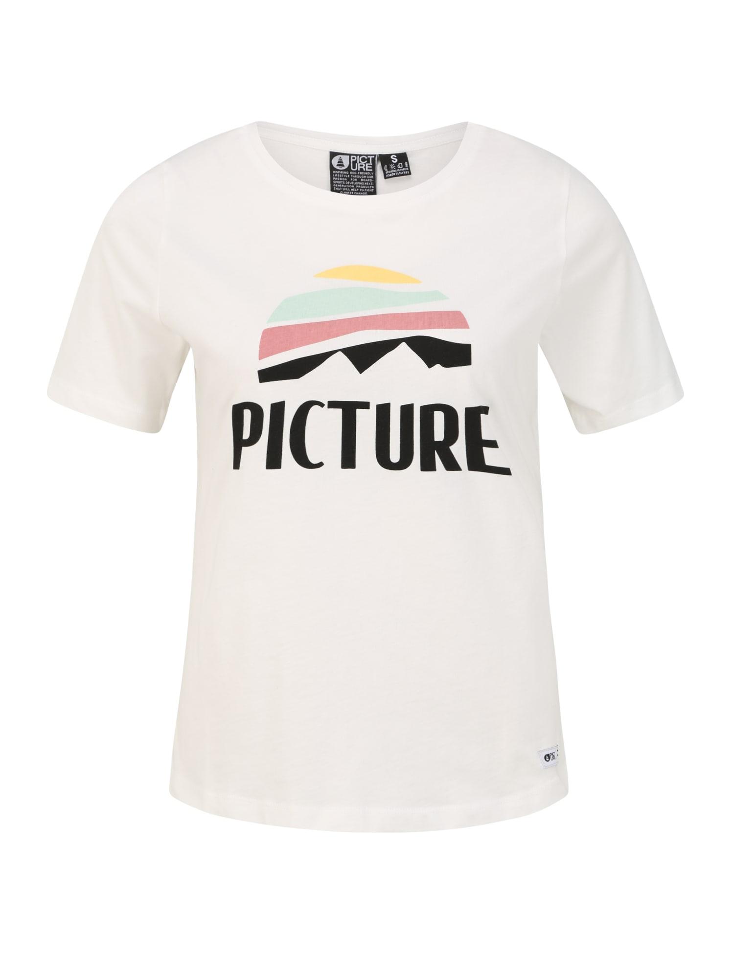 Picture Organic Clothing Sportiniai marškinėliai 'KEY' juoda / balta