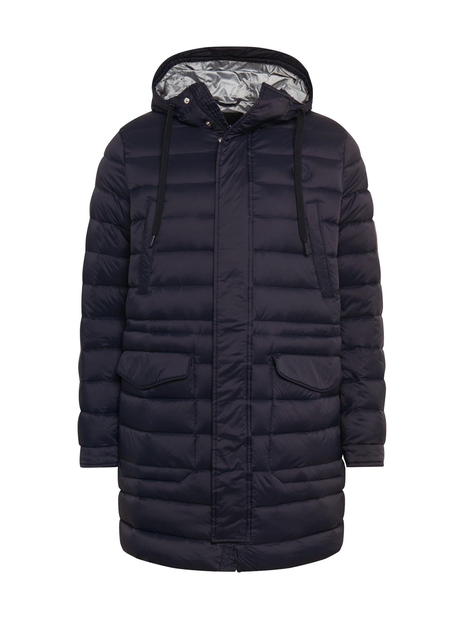 ARMANI EXCHANGE Žieminis paltas tamsiai mėlyna