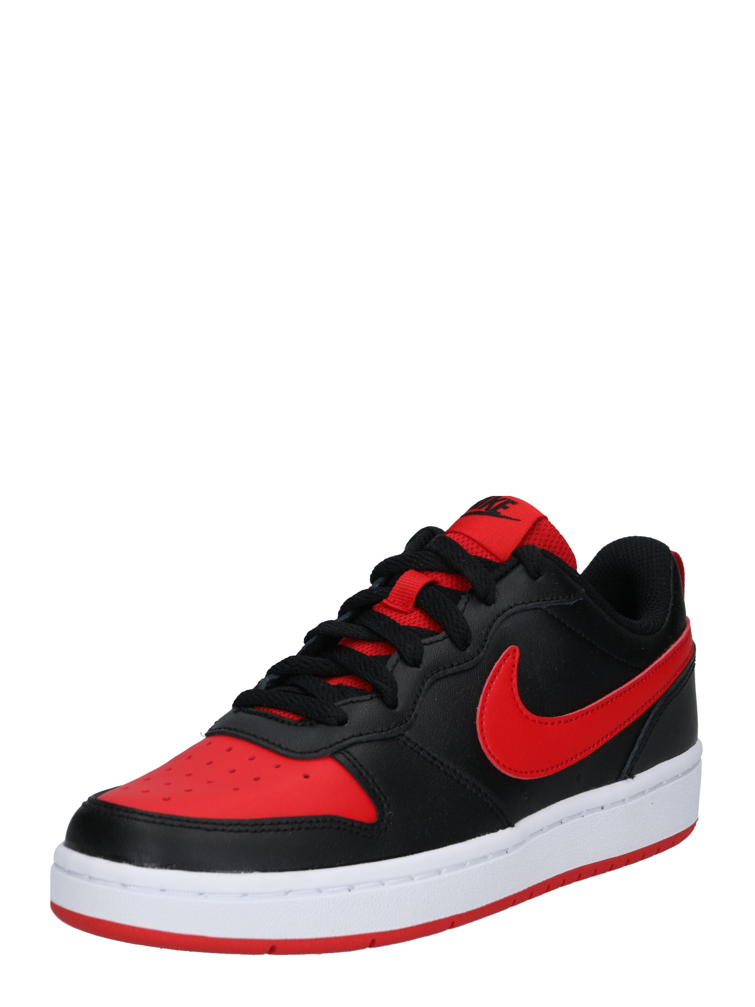 Nike Sportswear Tenisky 'Court Borough'  červená / čierna / biela