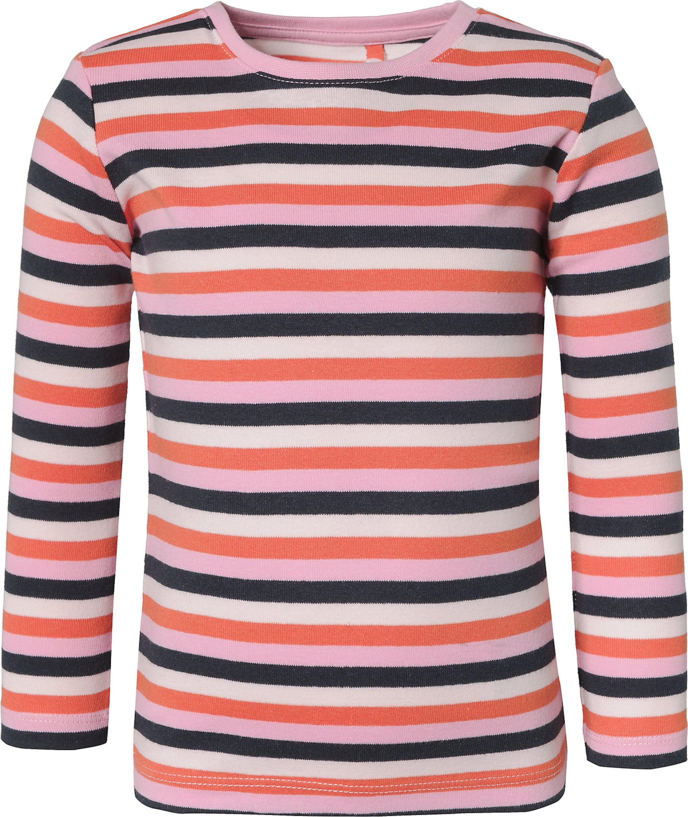 Kinder,  Mädchen,  Kinder NAME IT Shirt 'Nmfverit' blau,  creme,  beige,  rosa | 05714490699983