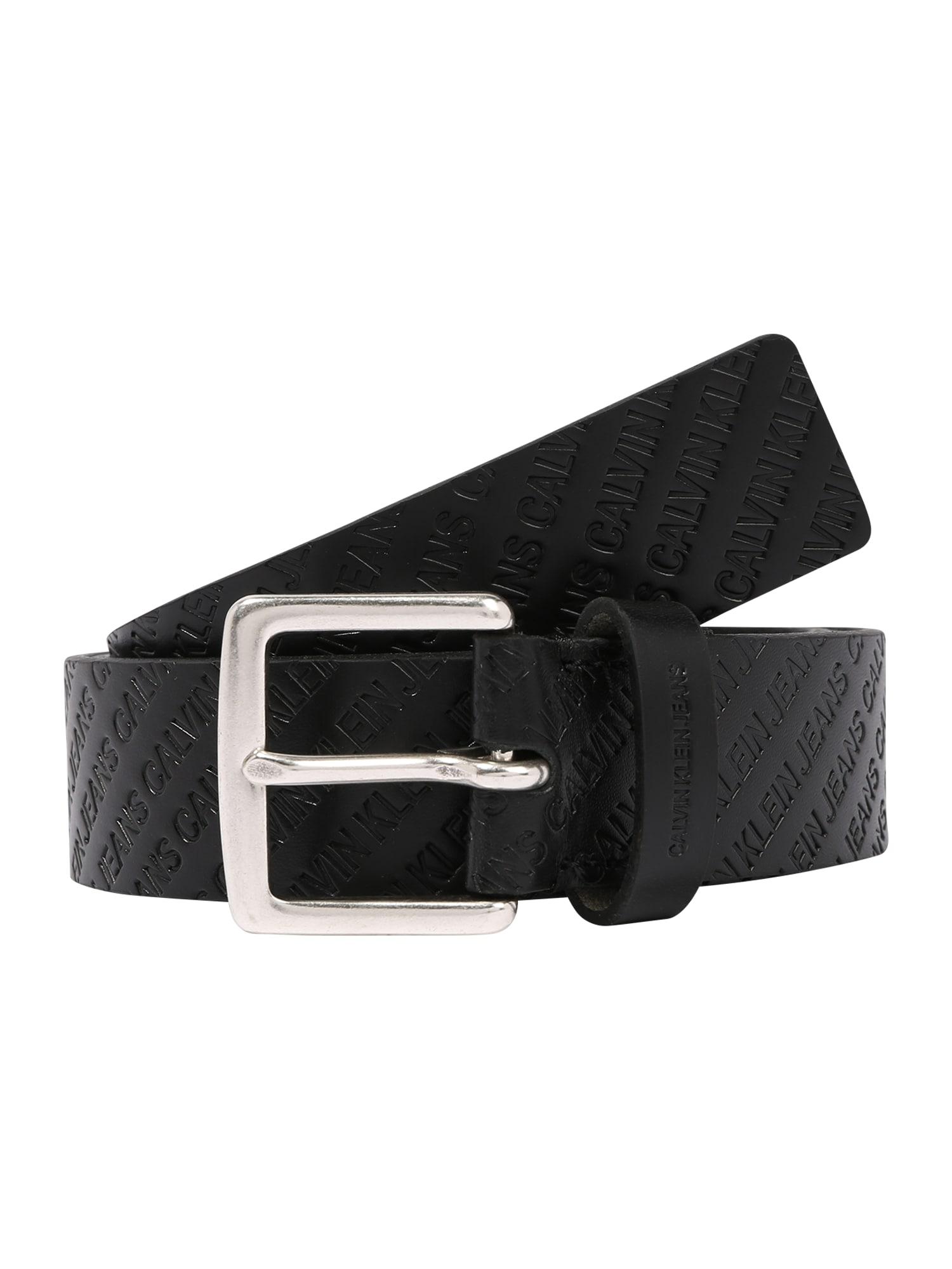 Calvin Klein Jeans Opasky 'CLASSIC ALLOVER EMBOSS'  čierna