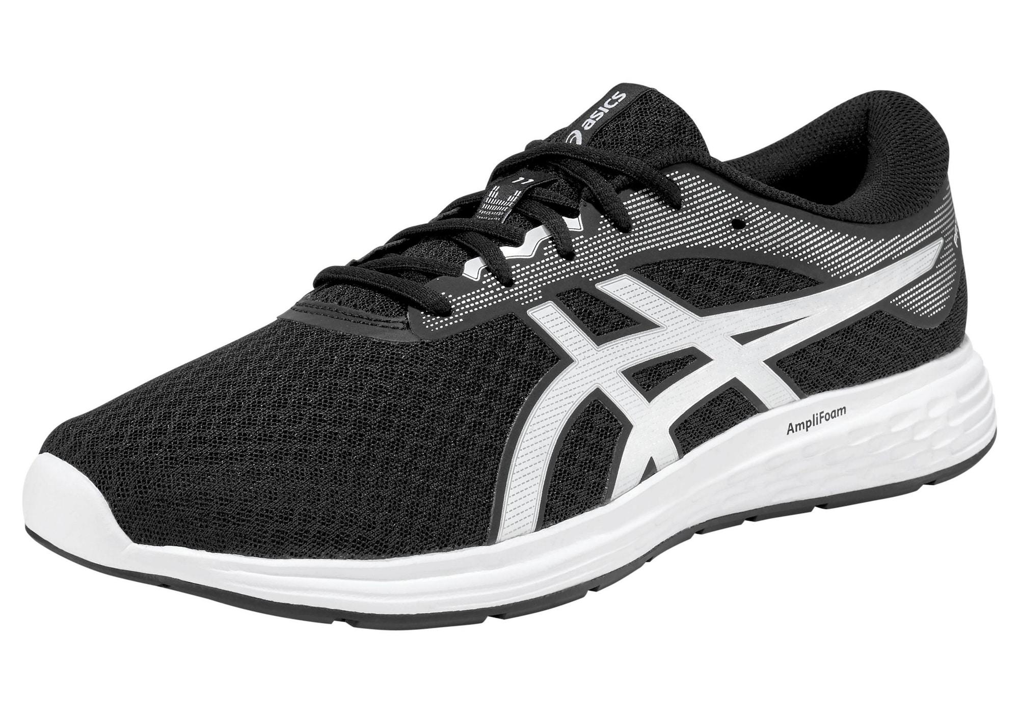 ASICS Bėgimo batai 'PATRIOT 11' juoda / balta