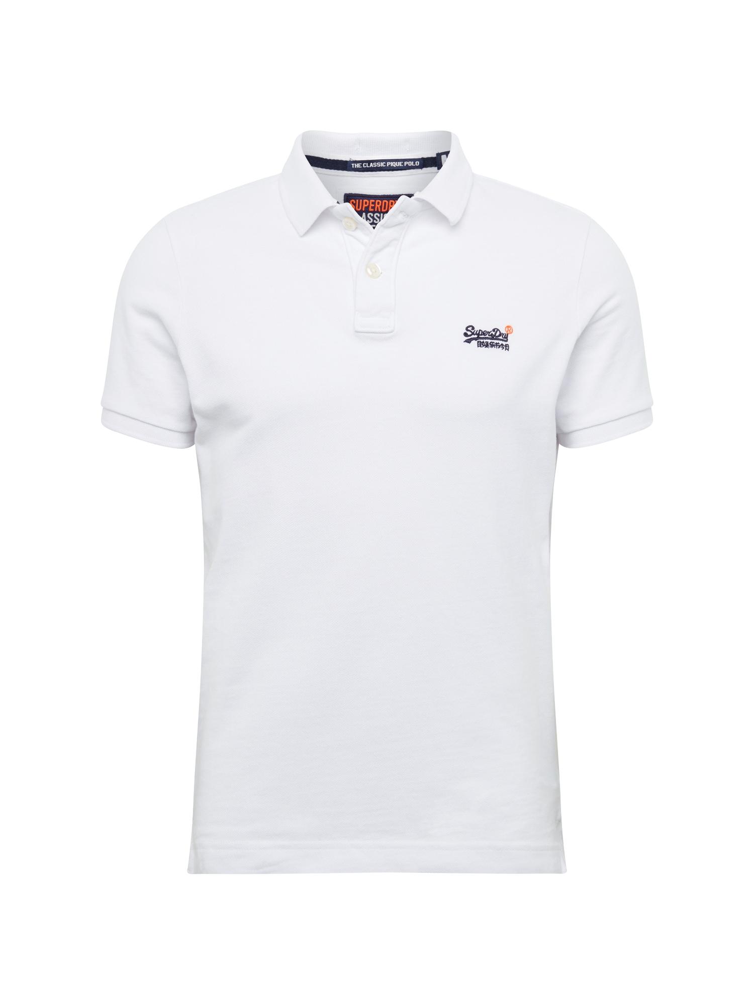 Tričko CLASSIC PIQUE SS POLO bílá Superdry