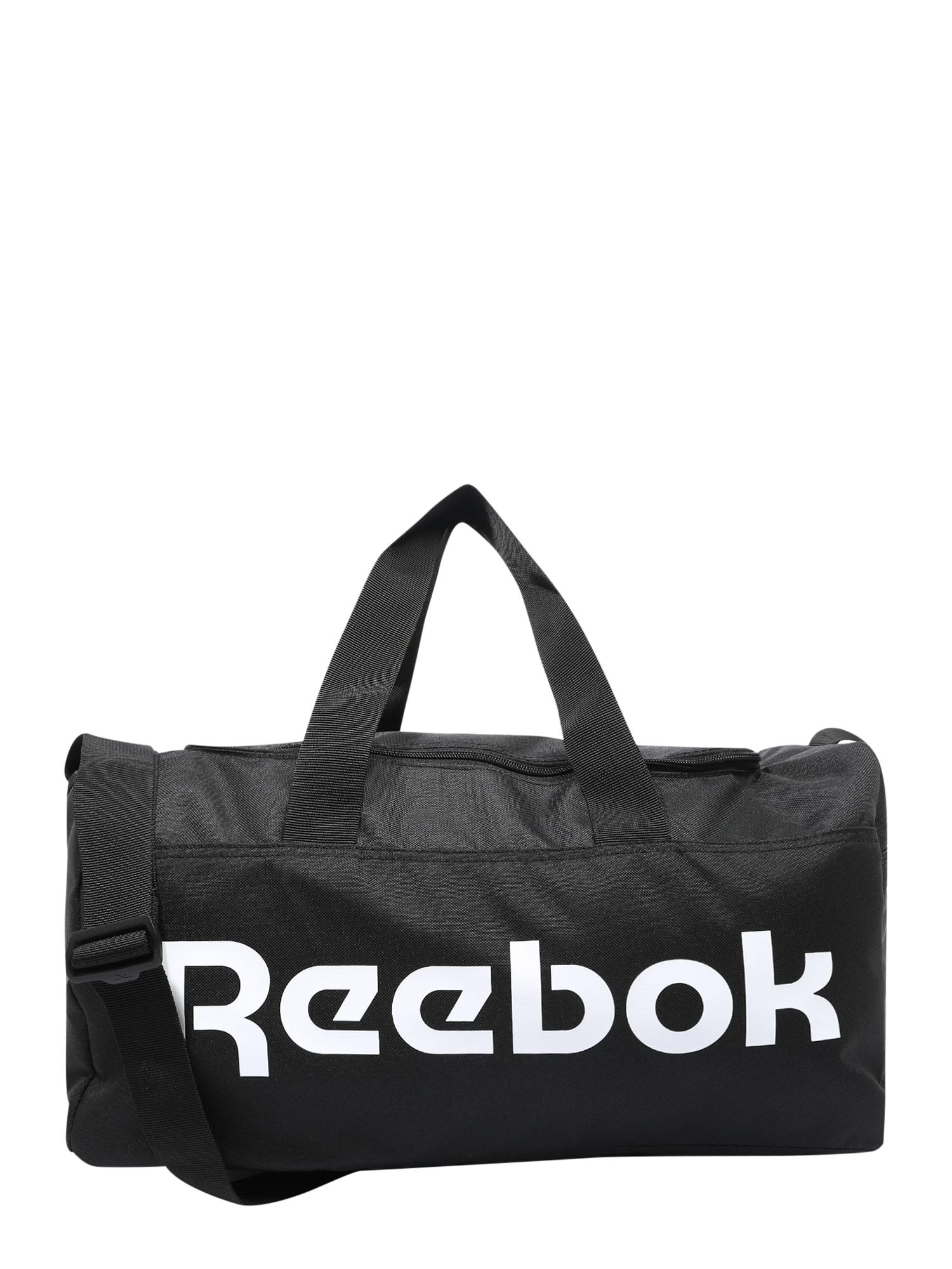 REEBOK Sportinis krepšys 'ACT CORE S GRIP' balta / juoda